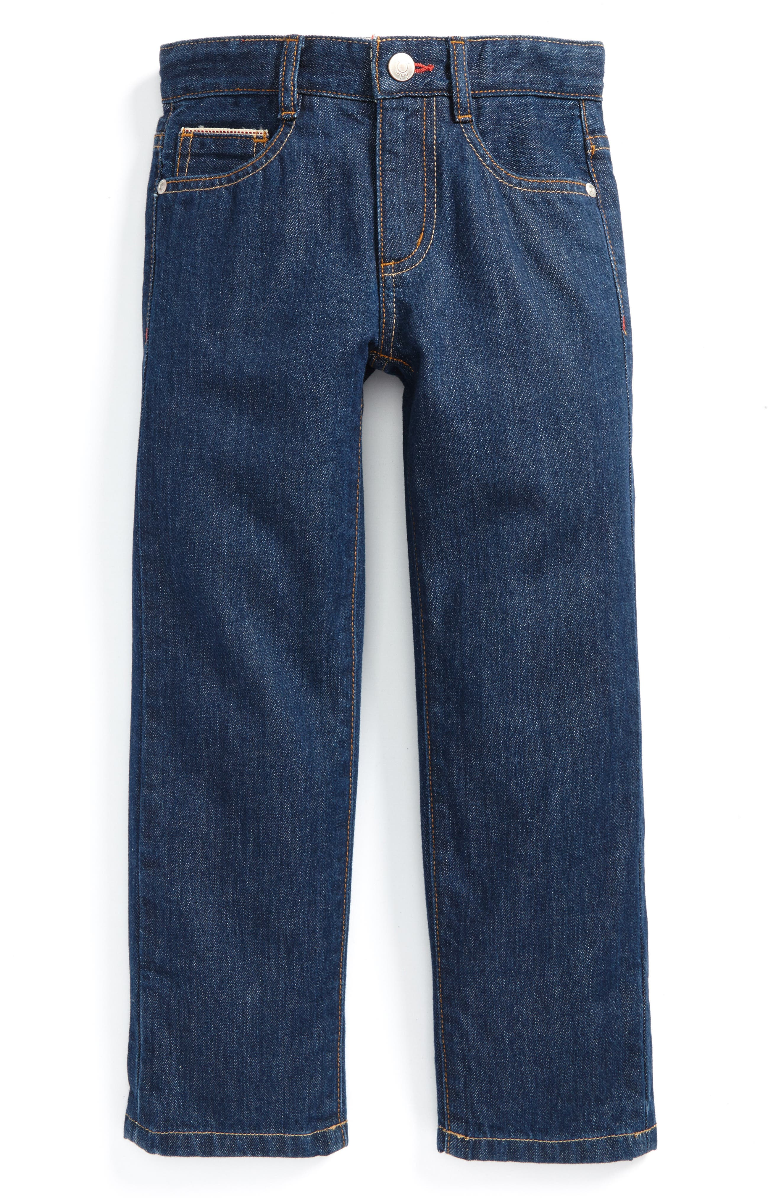 Main Image - Mini Boden Straight Leg Jeans (Toddler Boys, Little Boys & Big Boys)