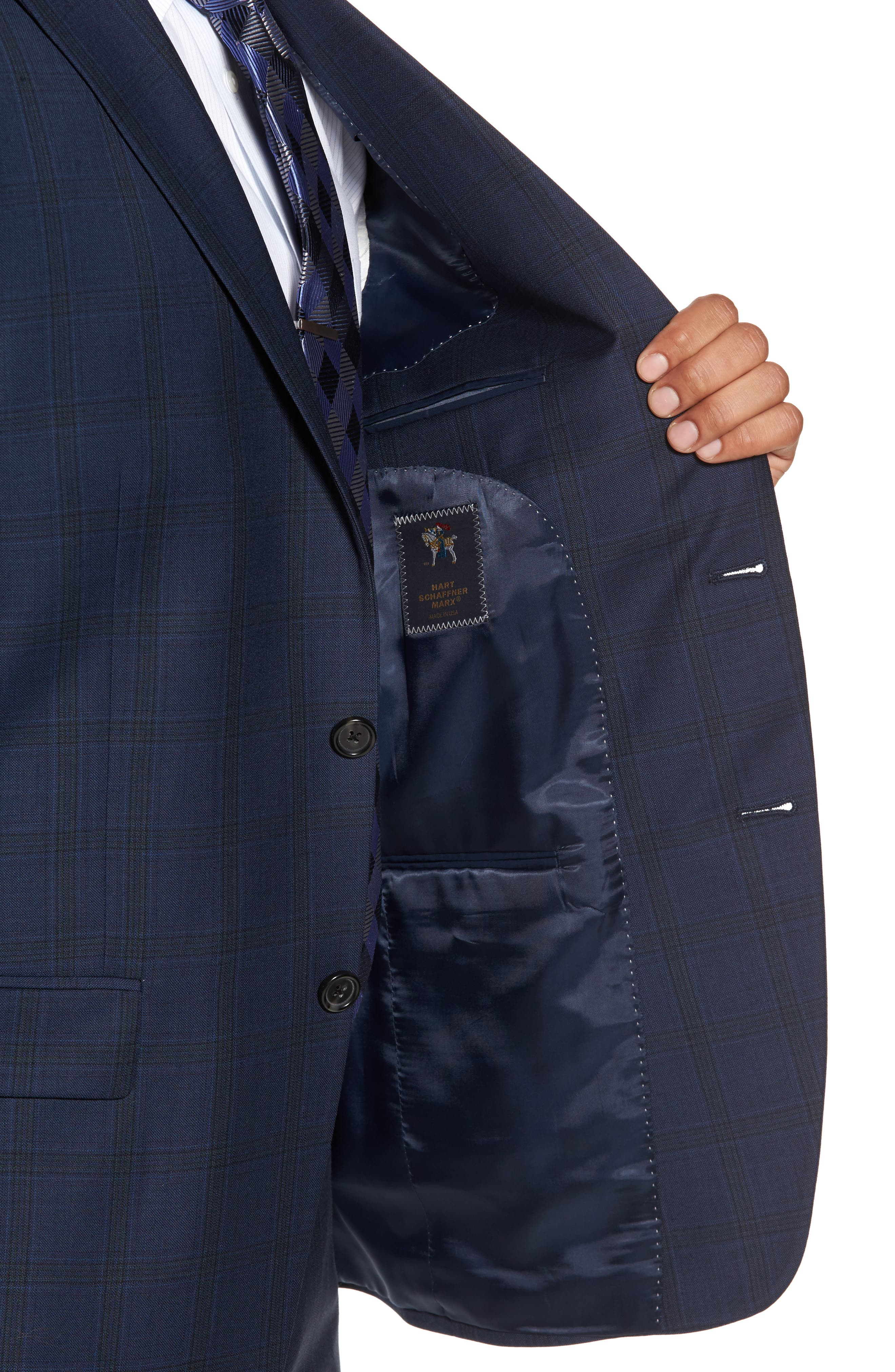 Alternate Image 4  - Hart Schaffner Marx Classic Fit Check Wool Suit
