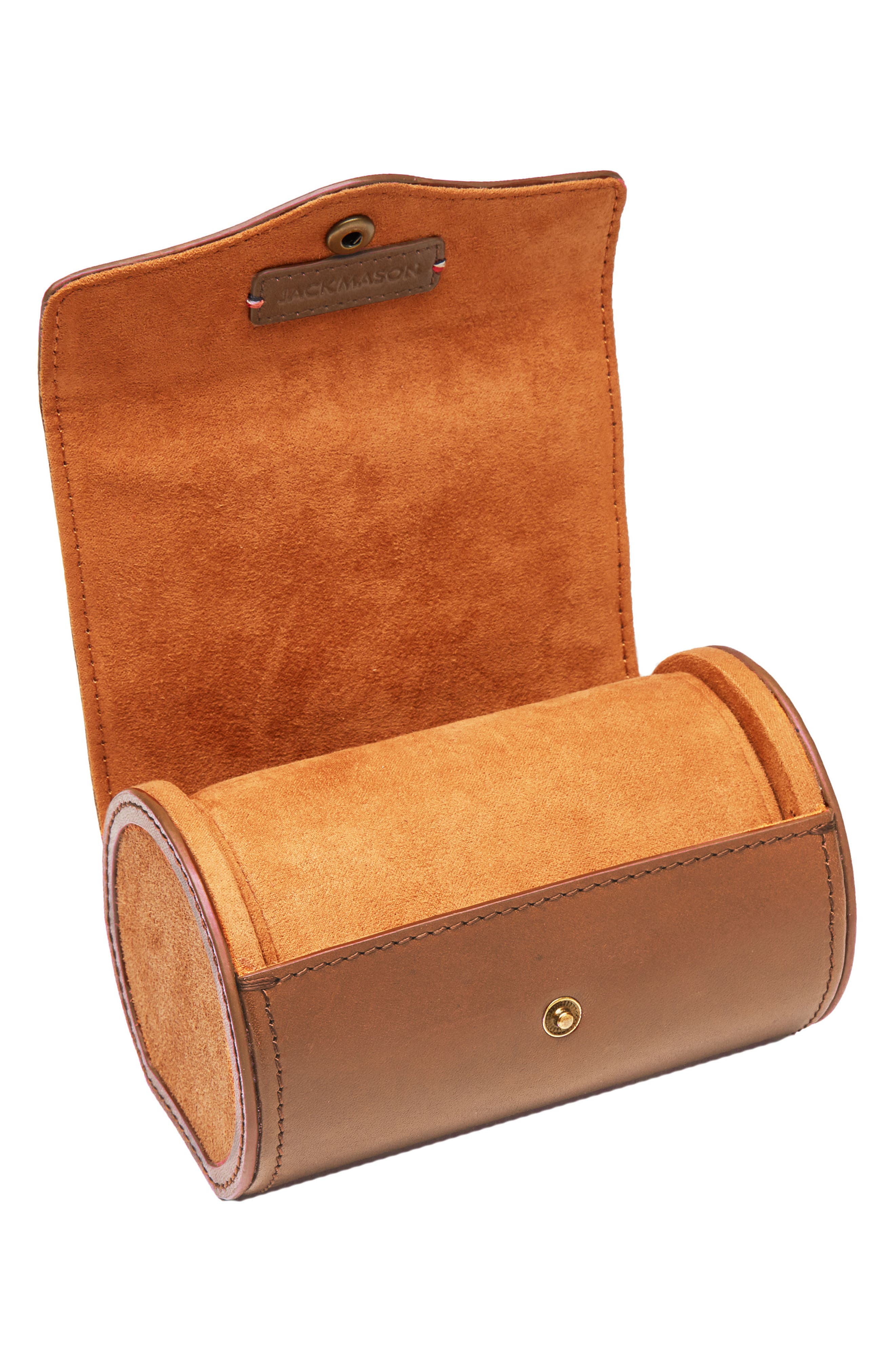 Watch Roll Case,                             Alternate thumbnail 2, color,                             Tan