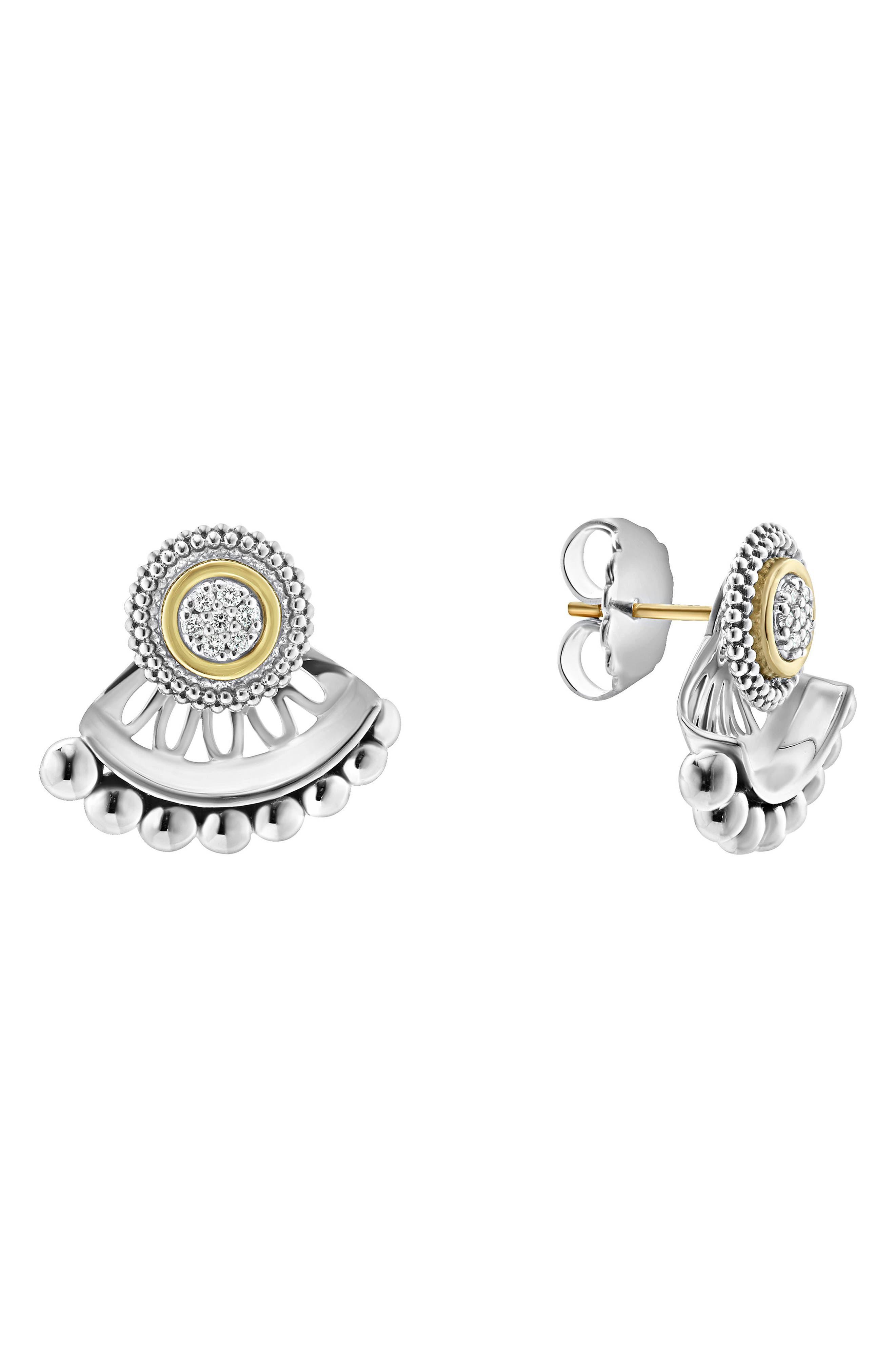 Alternate Image 1 Selected - LAGOS Caviar Diamond Stud Earrings