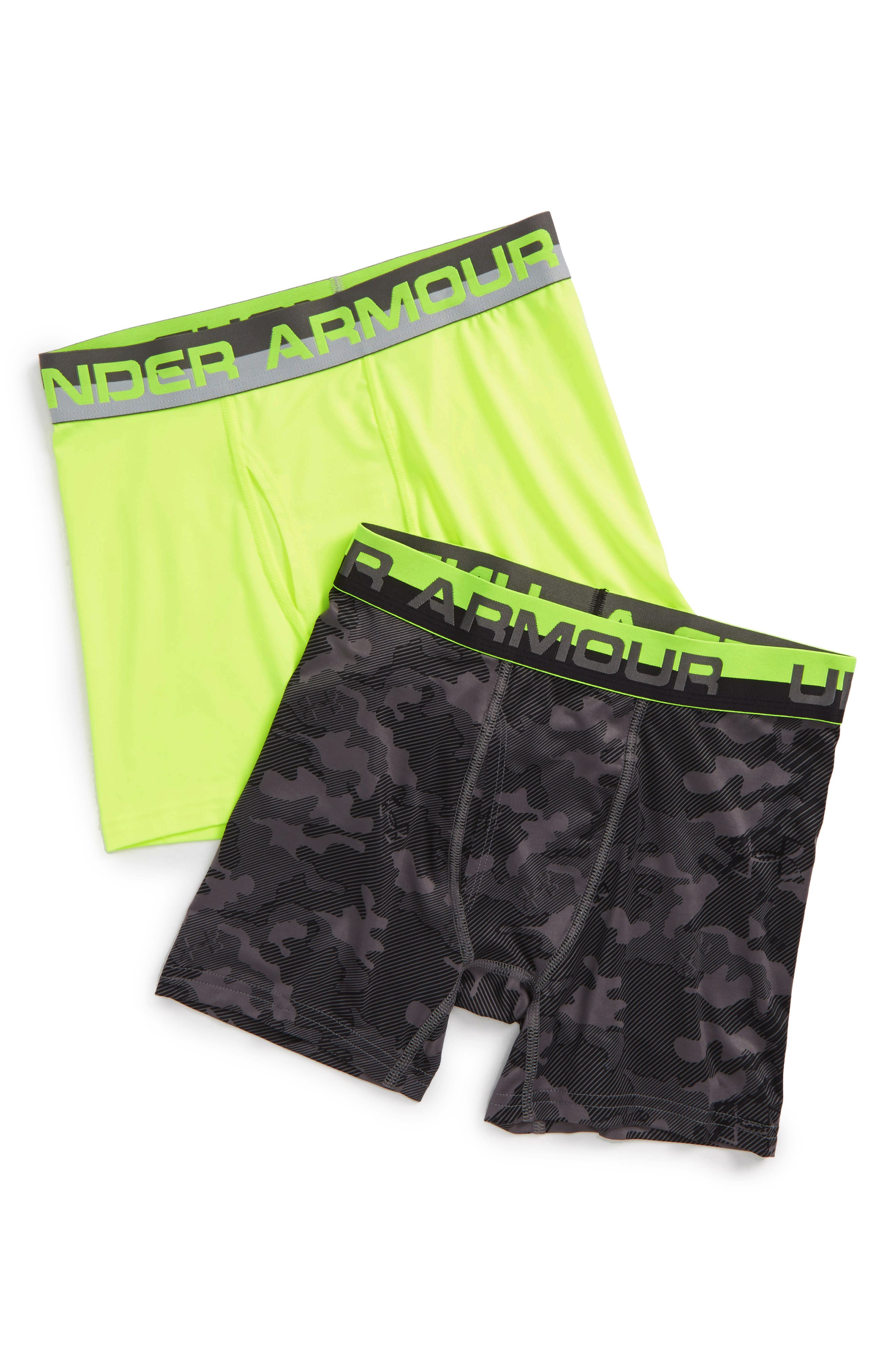 Alternate Image 1 Selected - Under Armour 2-Pack Boxer Briefs (Big Boys)