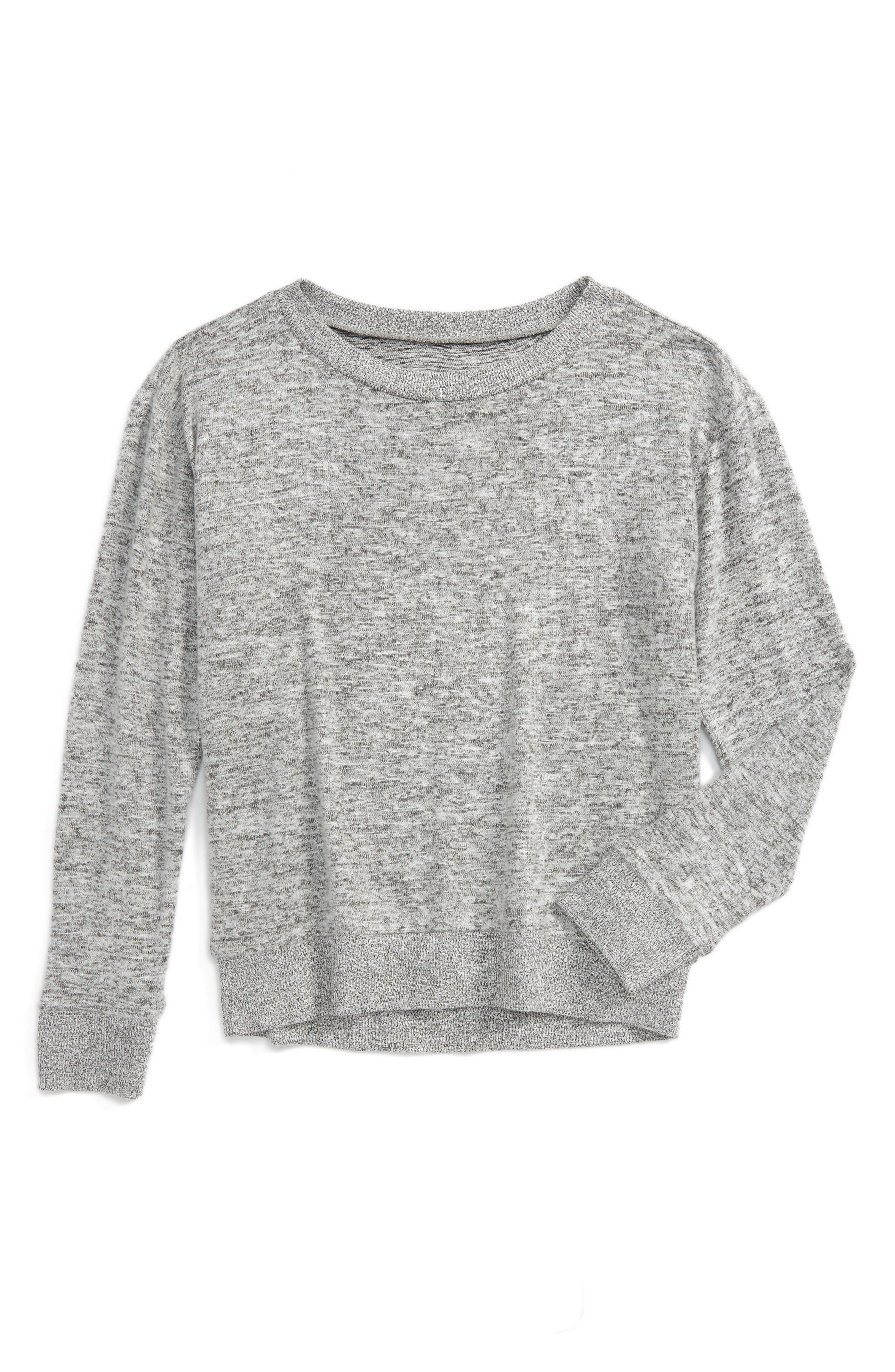 Alternate Image 1 Selected - Zella Girl Supersoft Sweater (Little Girls & Big Girls)