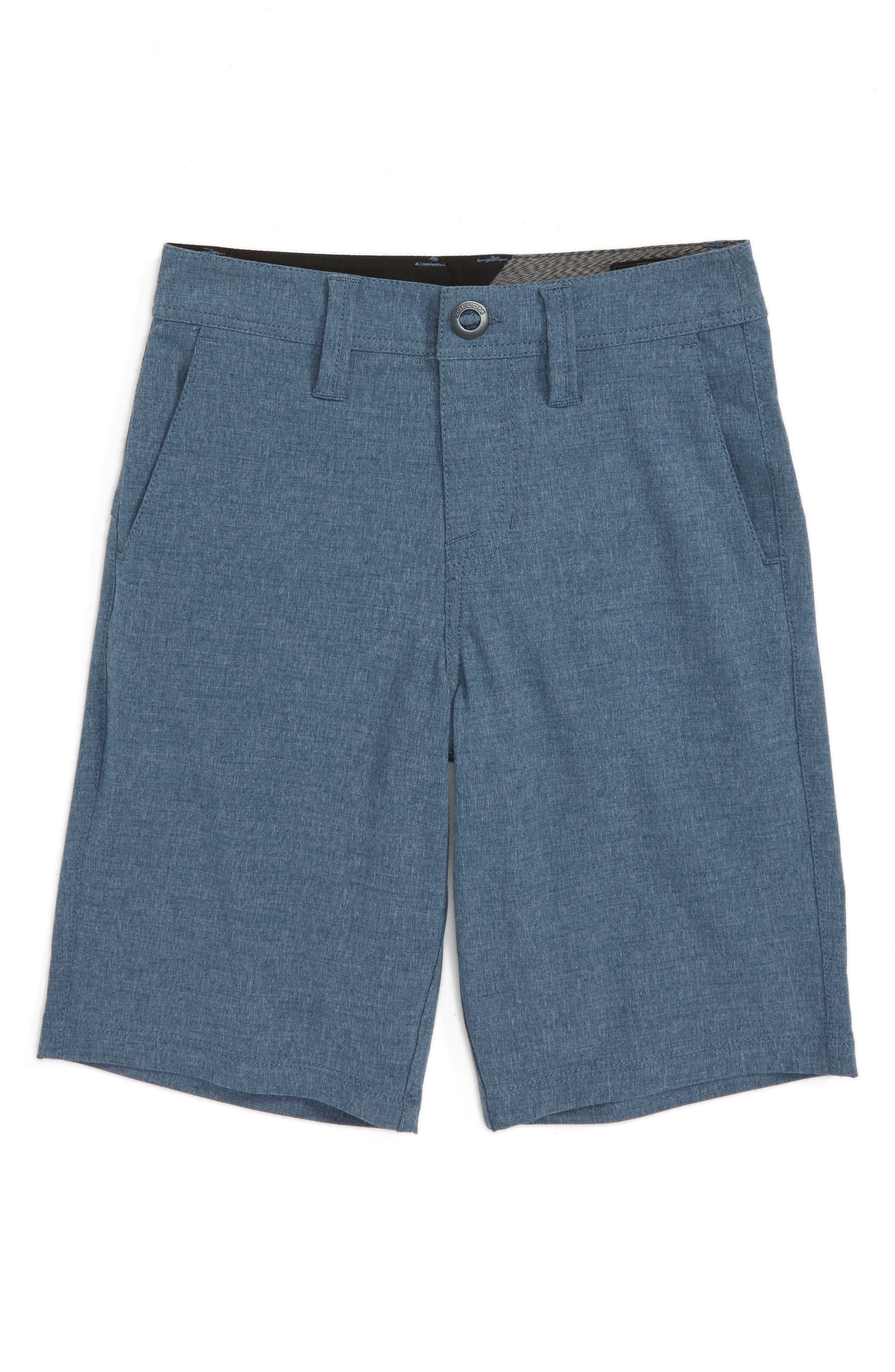 Surf N' Turf Static Hybrid Shorts,                             Main thumbnail 1, color,                             Indigo