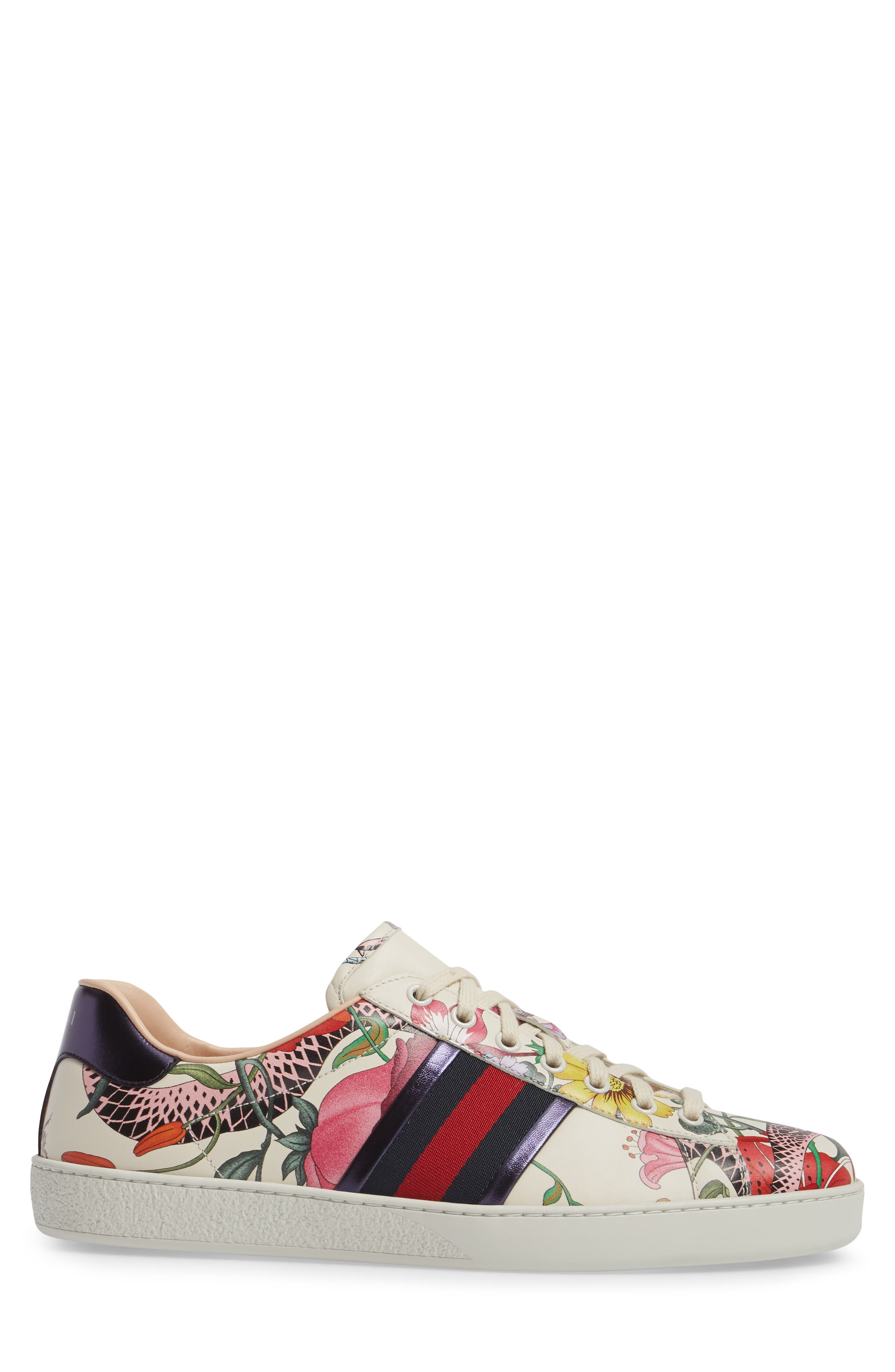 Alternate Image 3  - Gucci New Ace Floral Dino Sneaker (Men)