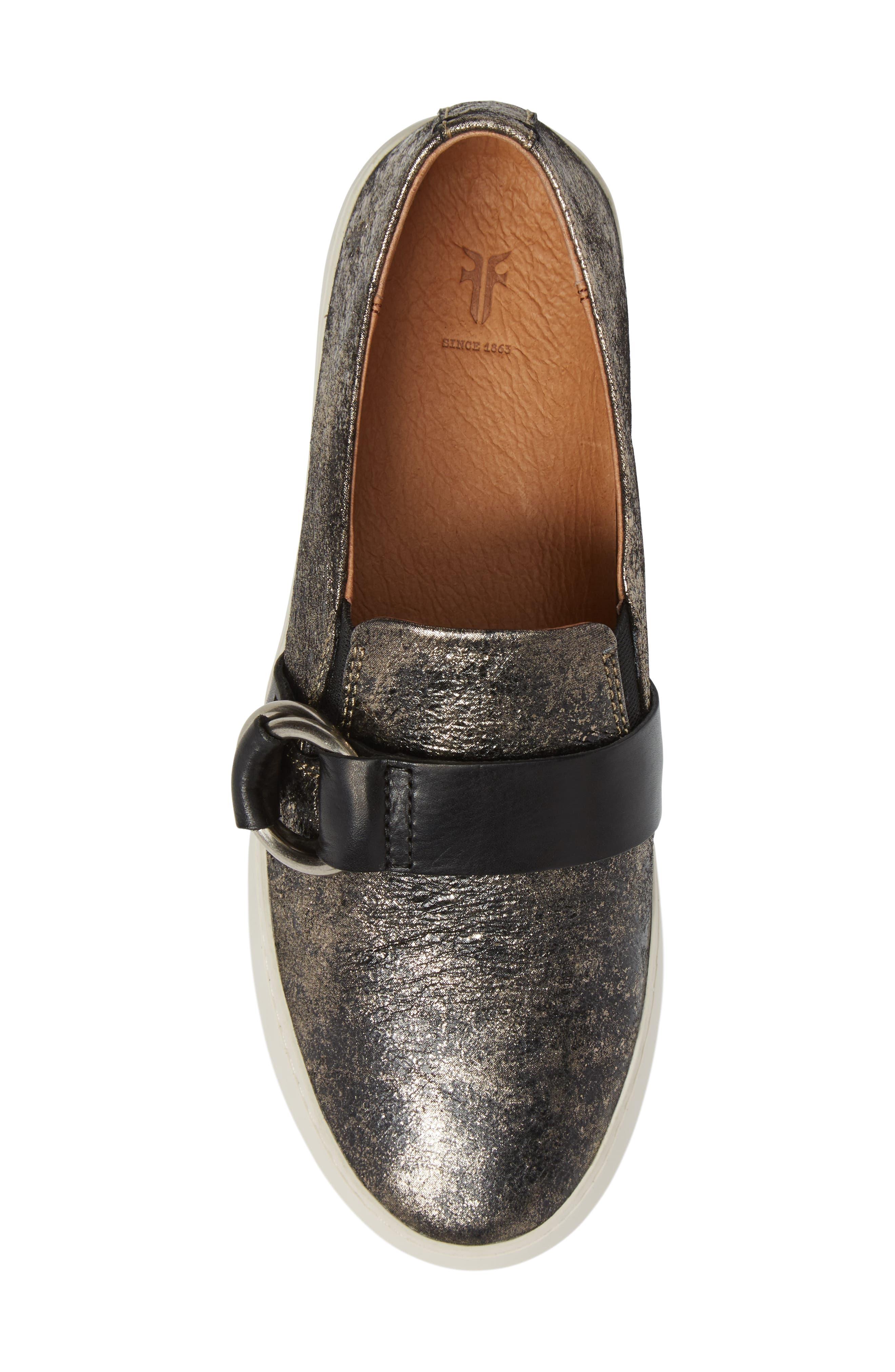 Lena Harness Slip-On Sneaker,                             Alternate thumbnail 5, color,                             Gunmetal