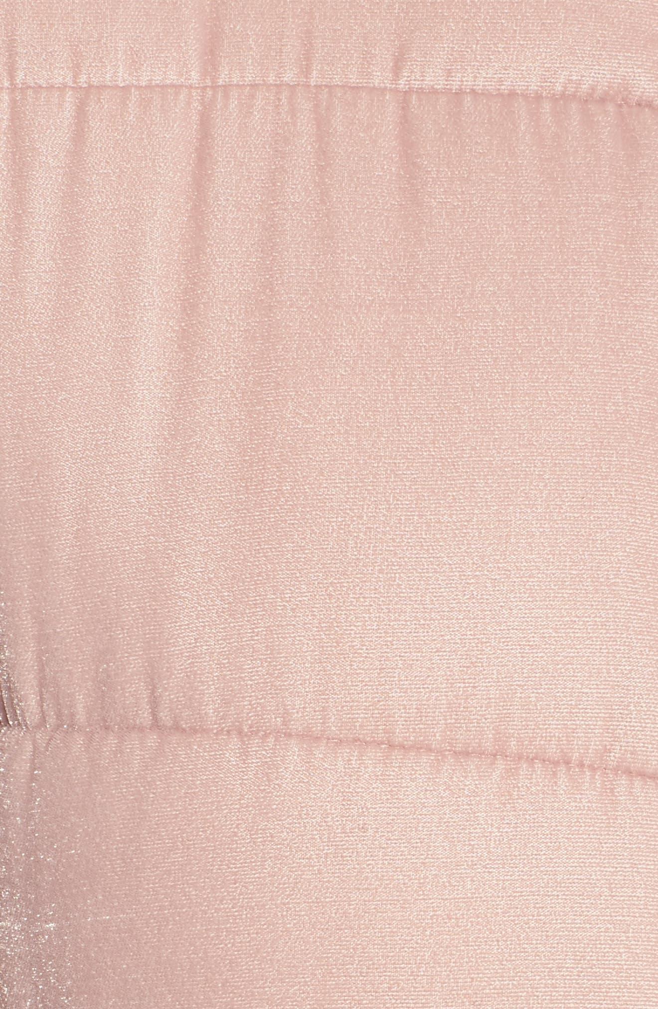 Quilted Velvet Jacket,                             Alternate thumbnail 5, color,                             Pink Adobe