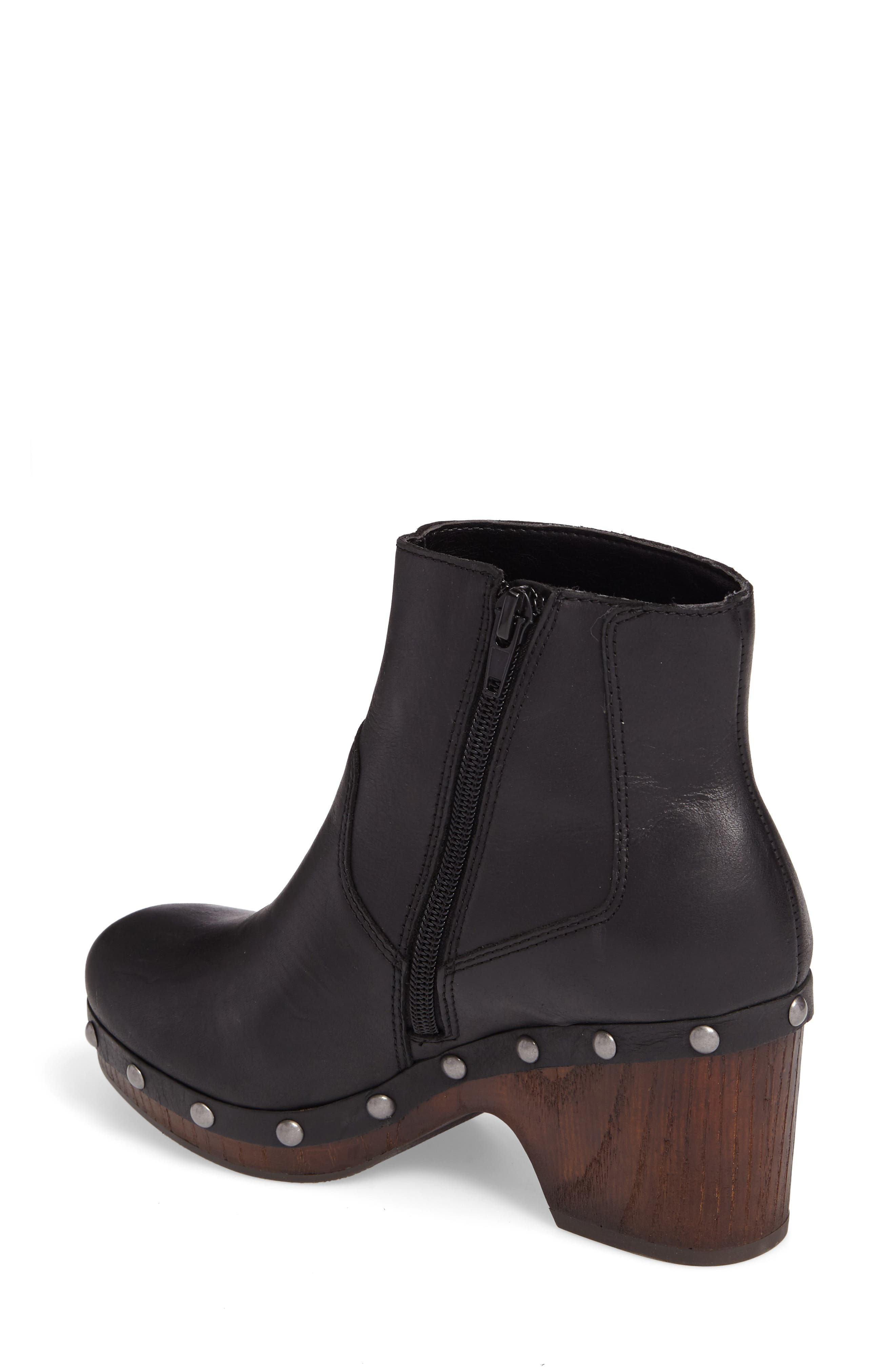 Yasamin Bootie,                             Alternate thumbnail 2, color,                             Black Leather