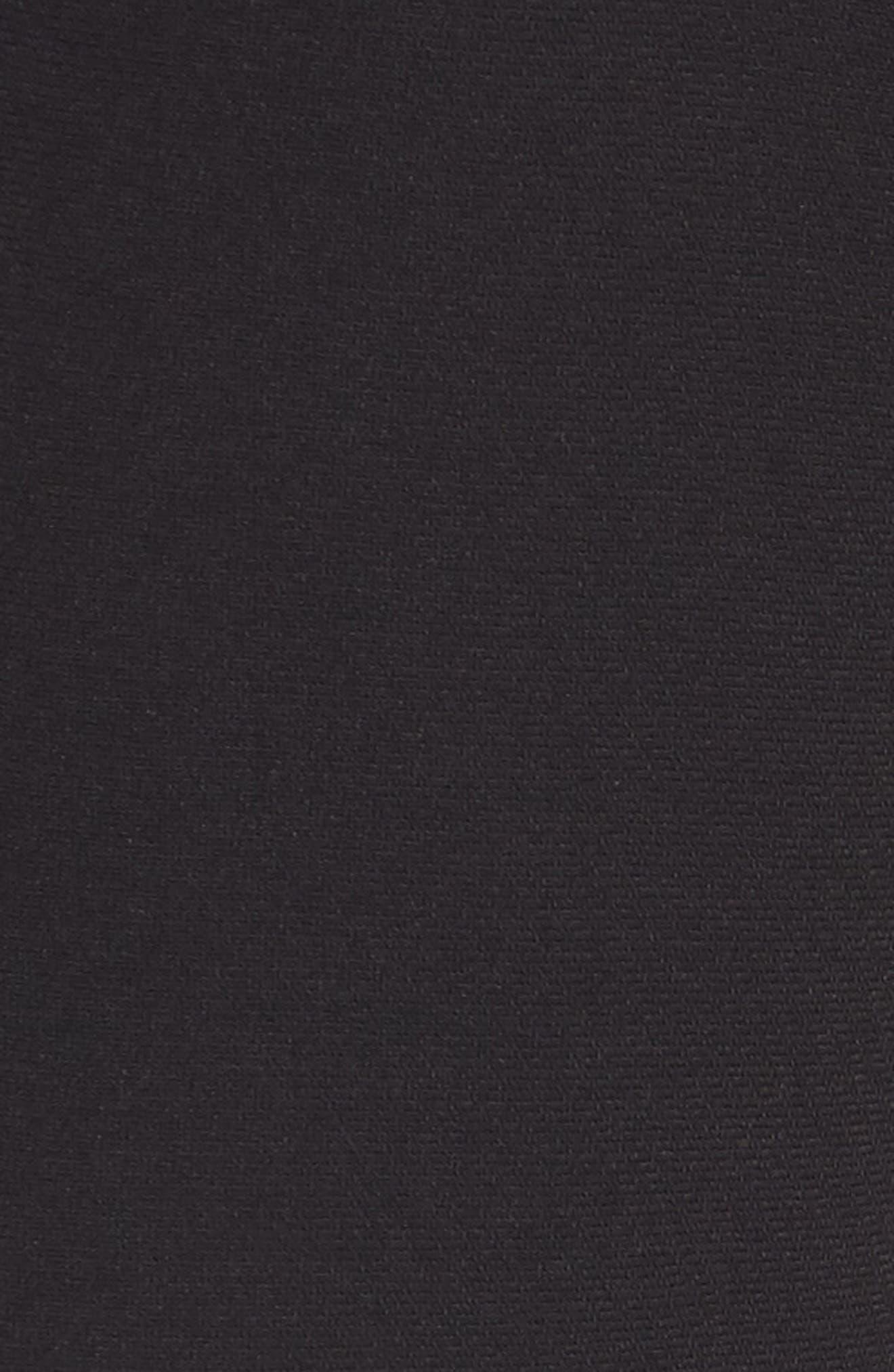 Ruffle Crop Flare Pants,                             Alternate thumbnail 5, color,                             Black