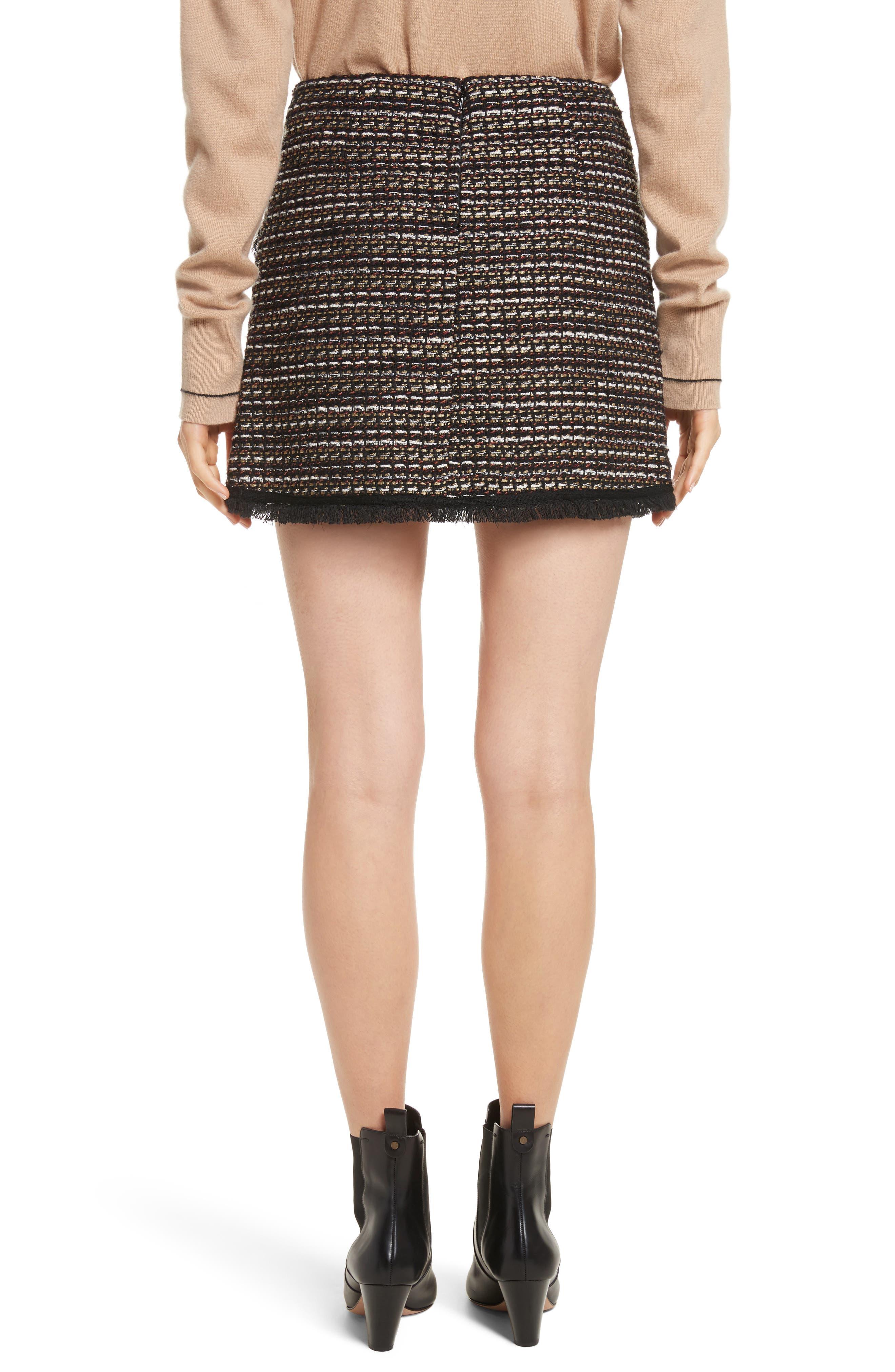 Margot Skirt,                             Alternate thumbnail 2, color,                             Black/ White/ Gold