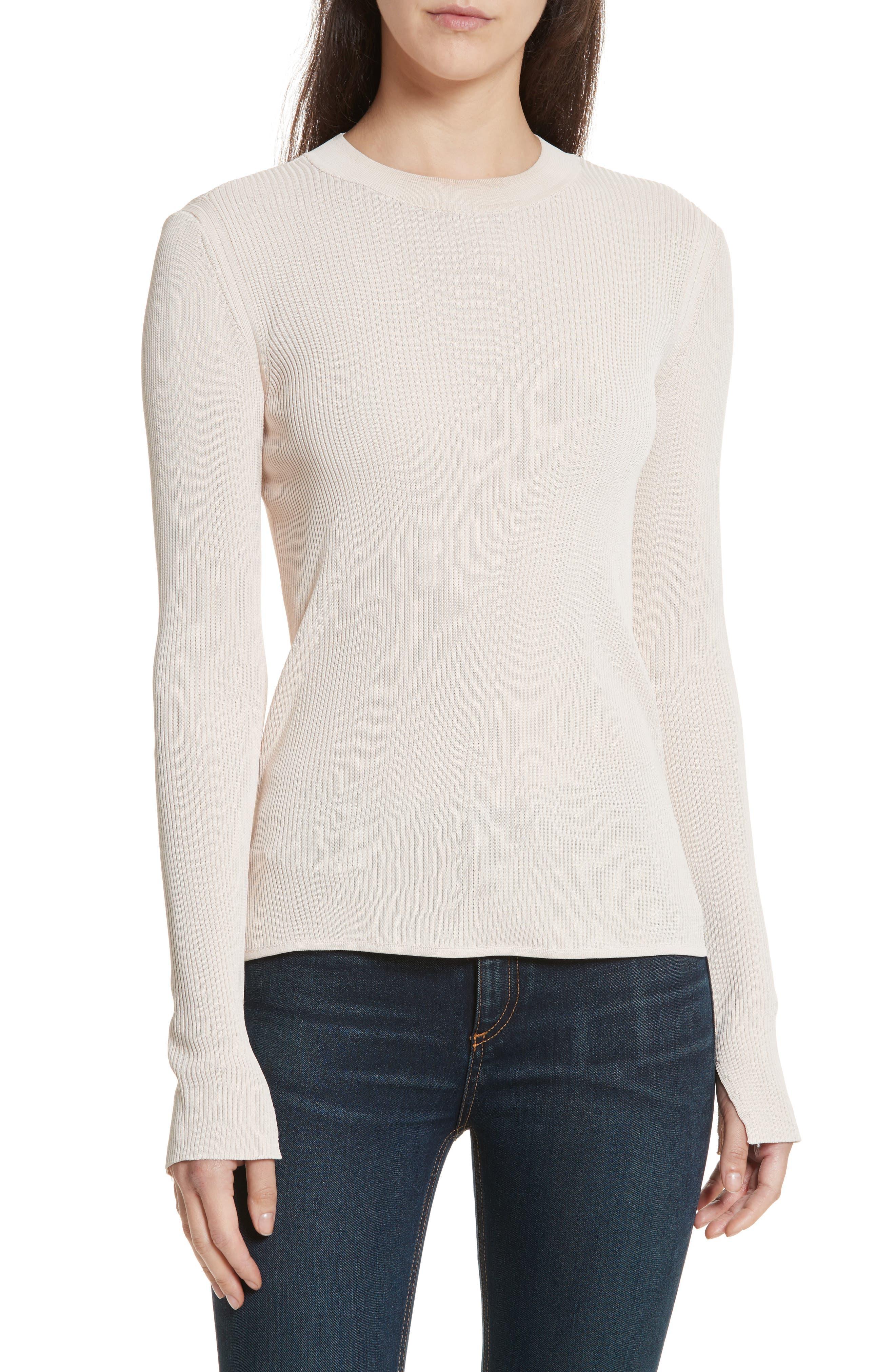 Sylvia Split Cuff Sweater,                         Main,                         color, Pink