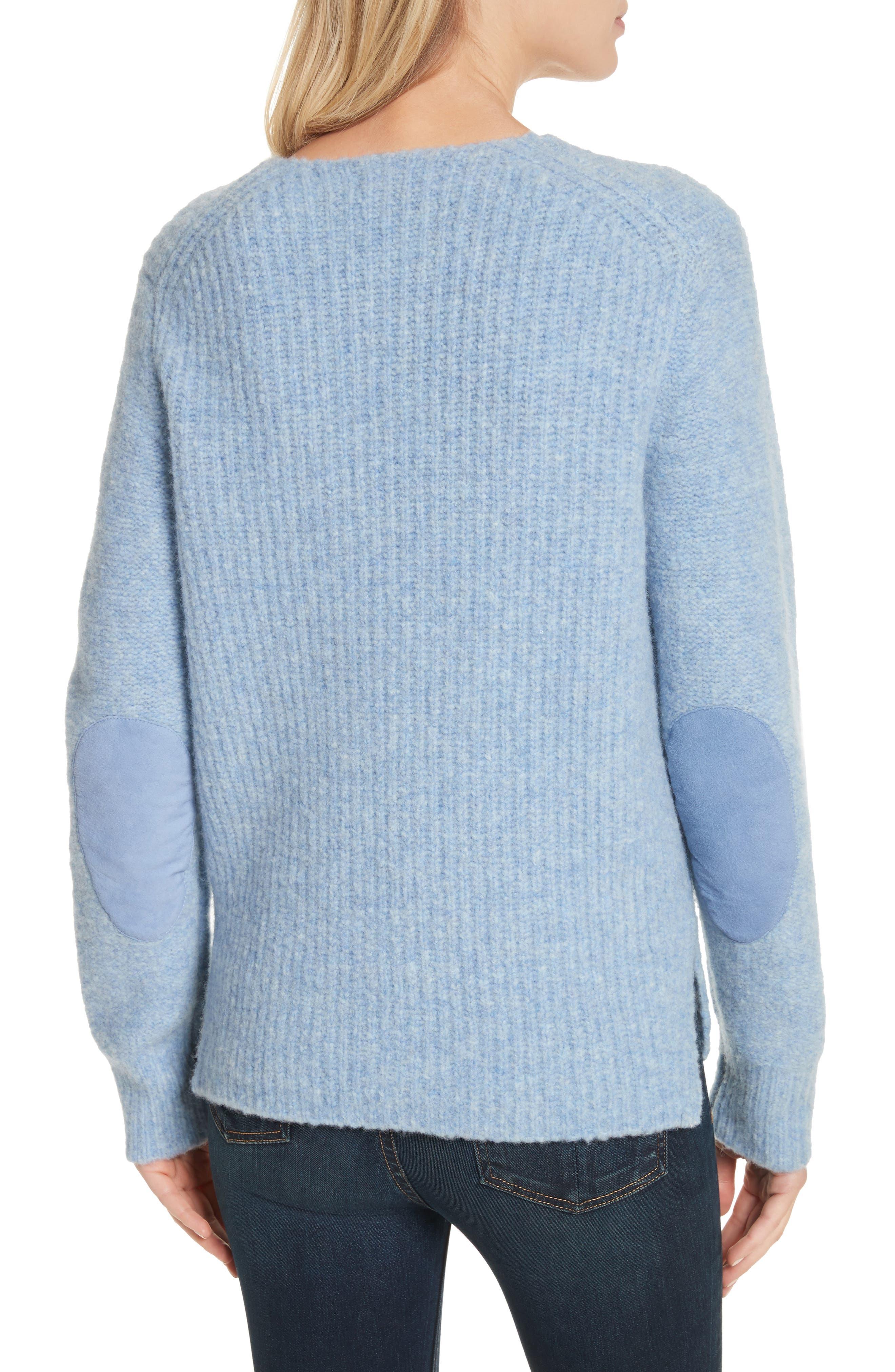 Francie Merino Wool Blend Sweater,                             Alternate thumbnail 2, color,                             Light Blue