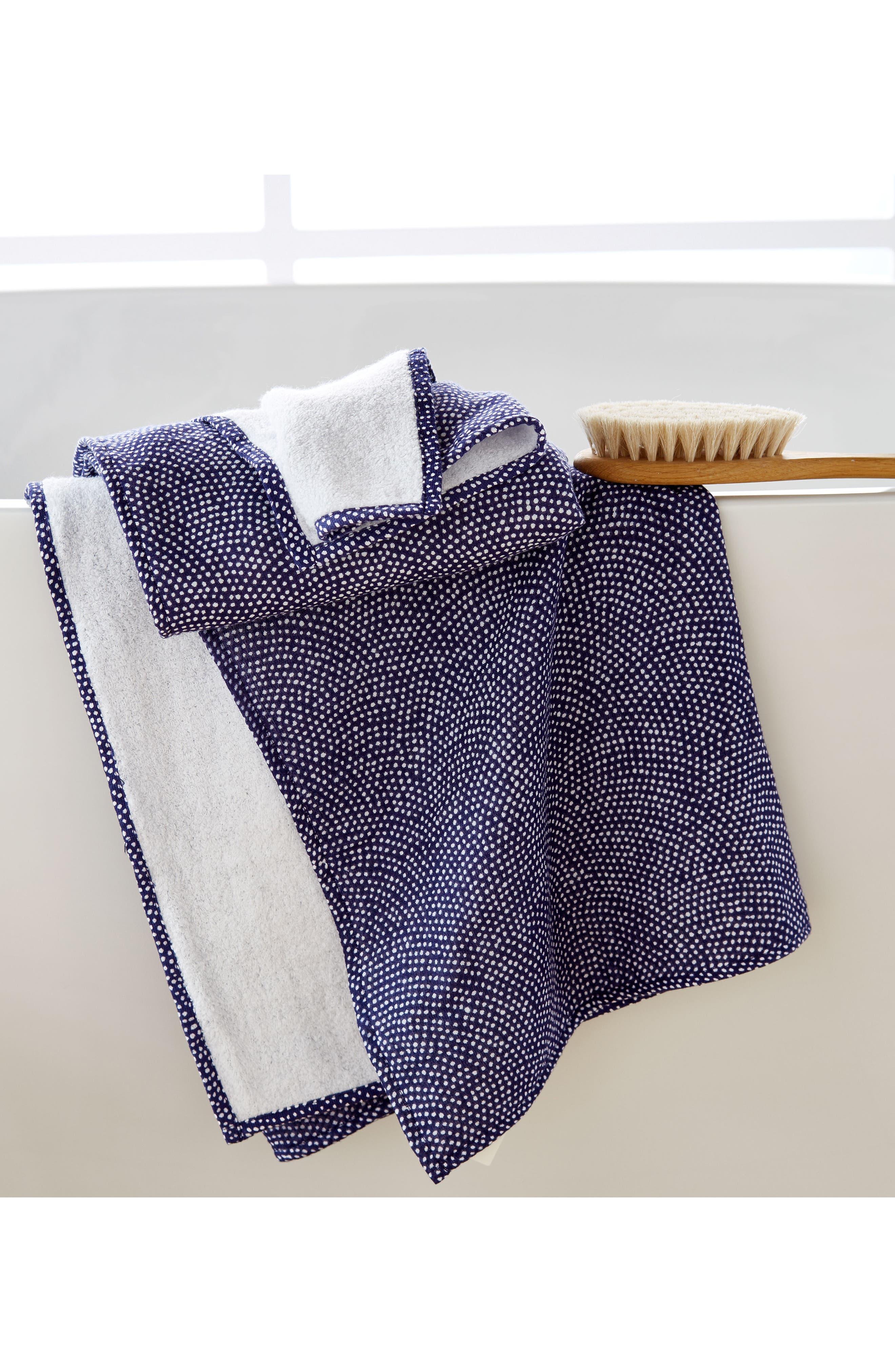 Zero Twist Print Bath Towel,                             Alternate thumbnail 2, color,                             Dark Blue