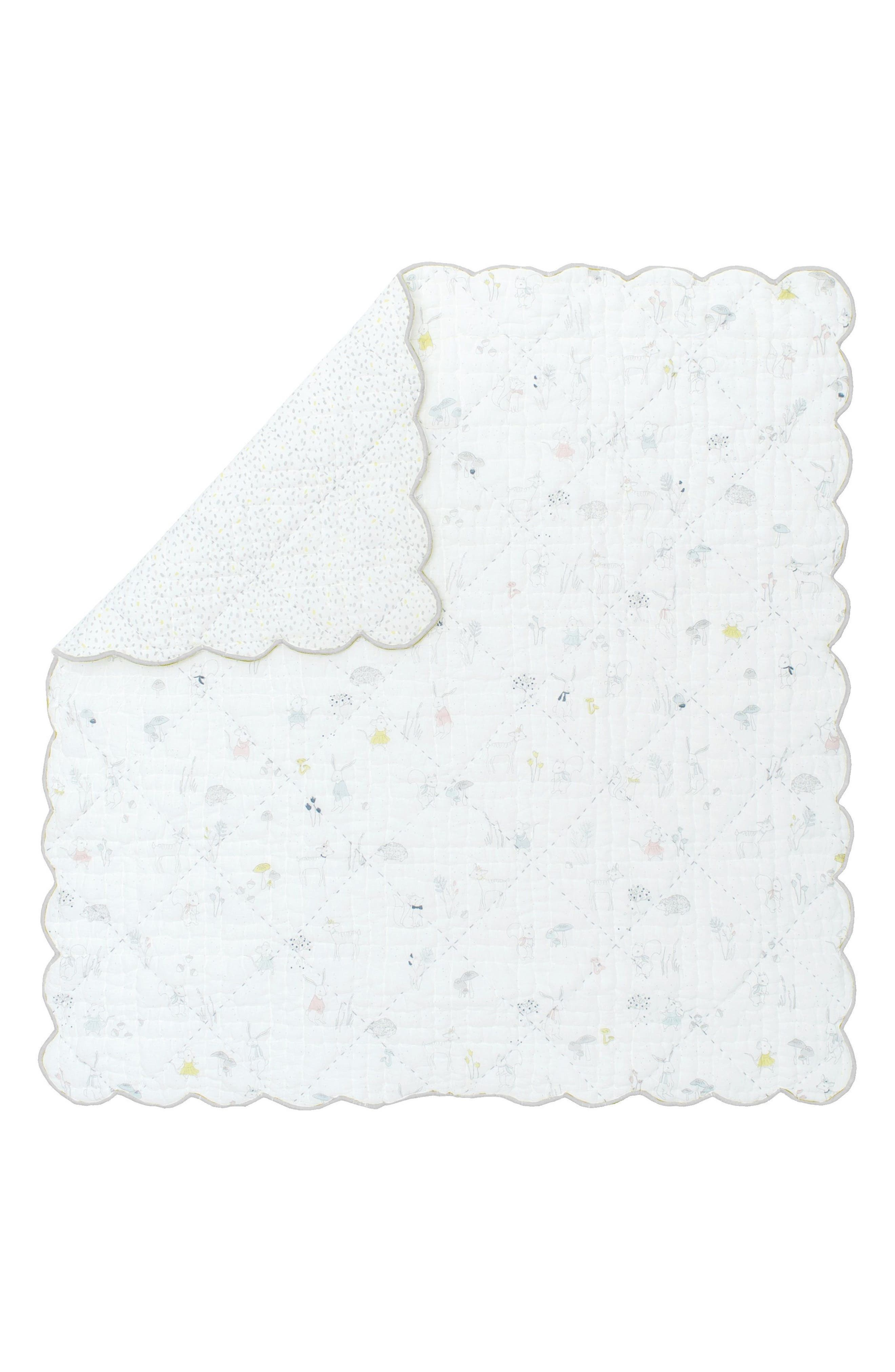 Magical Forest Baby Blanket,                         Main,                         color, Grey
