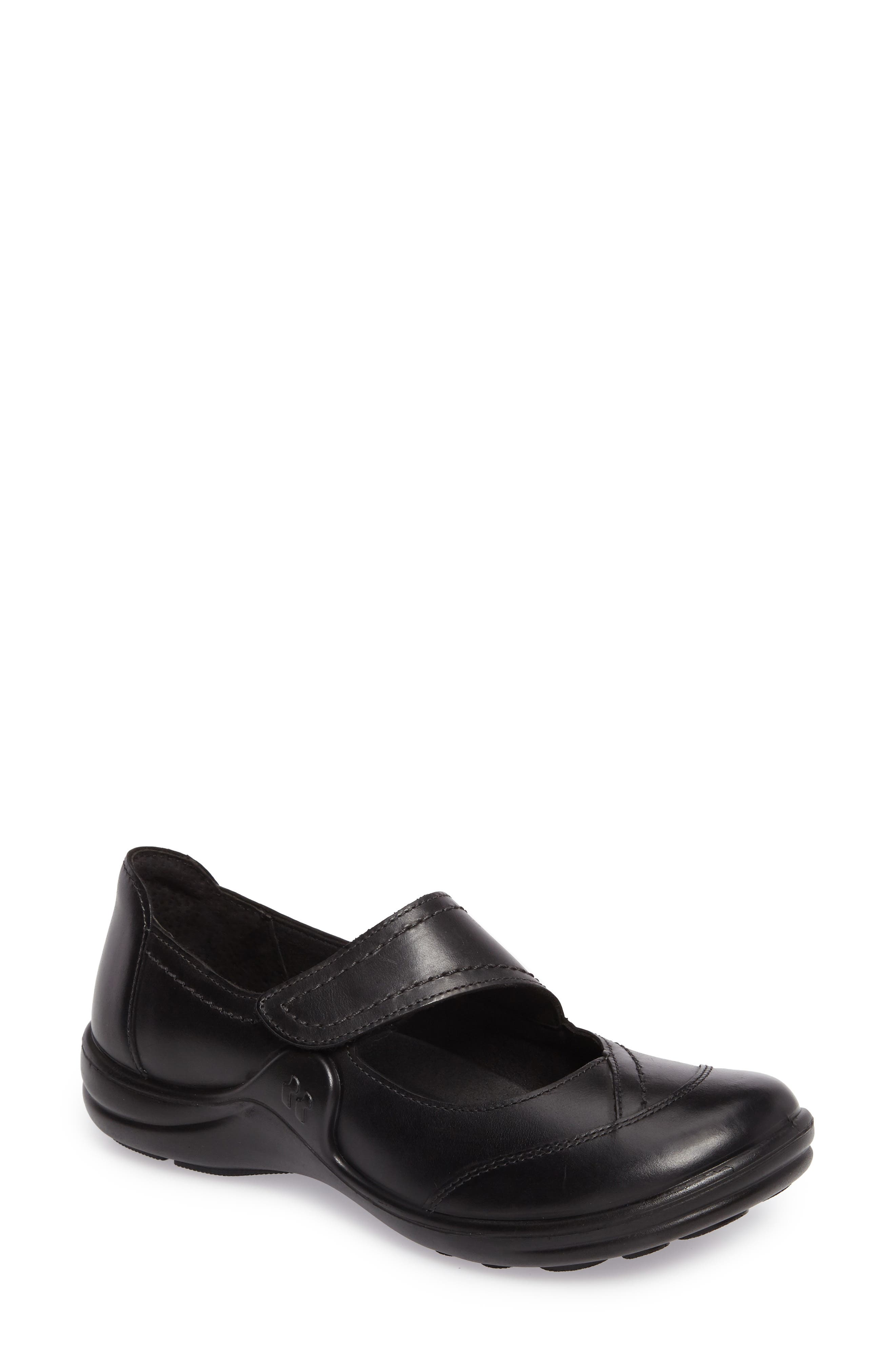 Maddy 30 Mary Jane Flat,                         Main,                         color, Black Leather