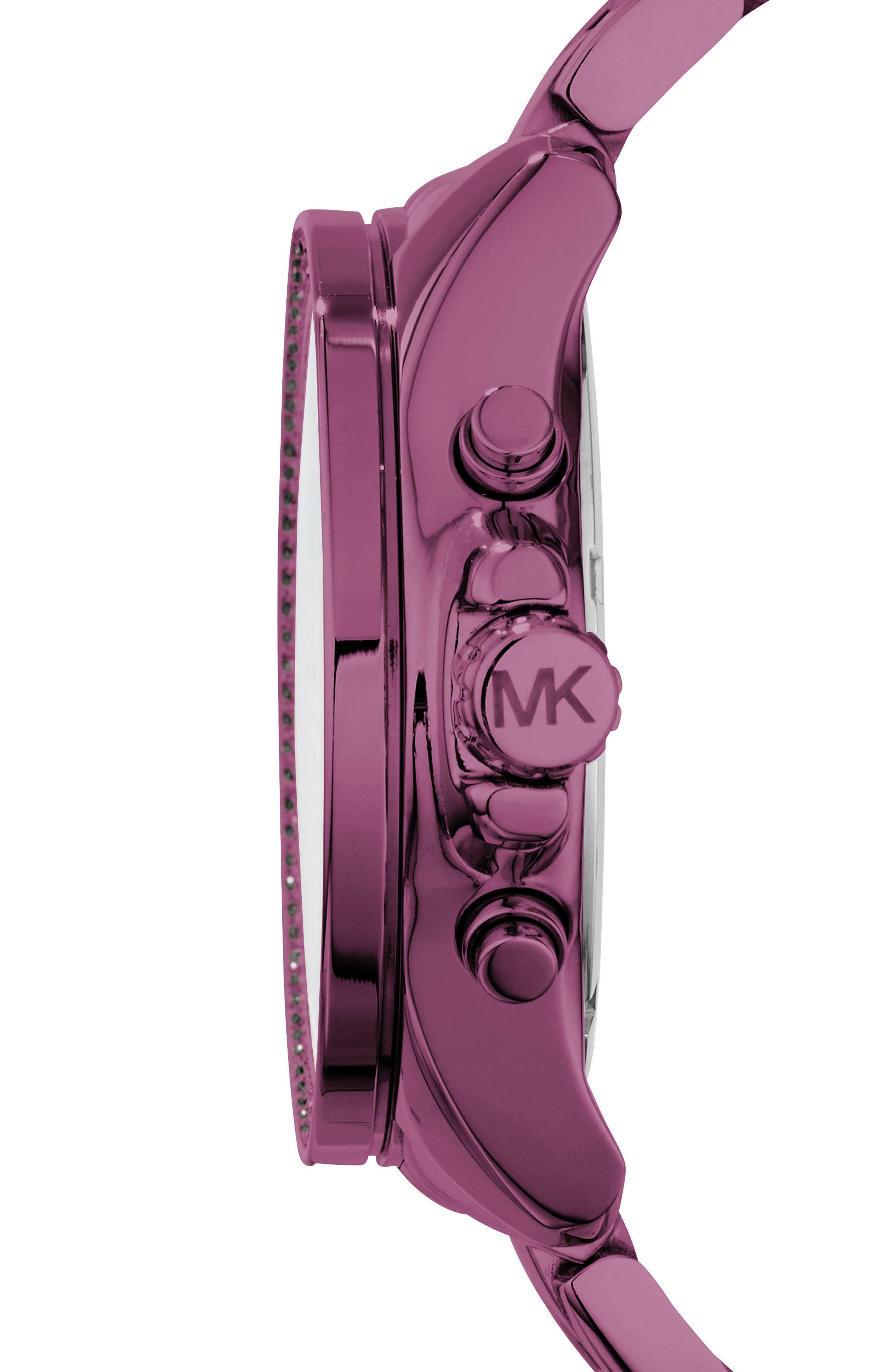 Alternate Image 2  - Michael Kors Wren Pavé Chronograph Bracelet Watch, 41.5mm