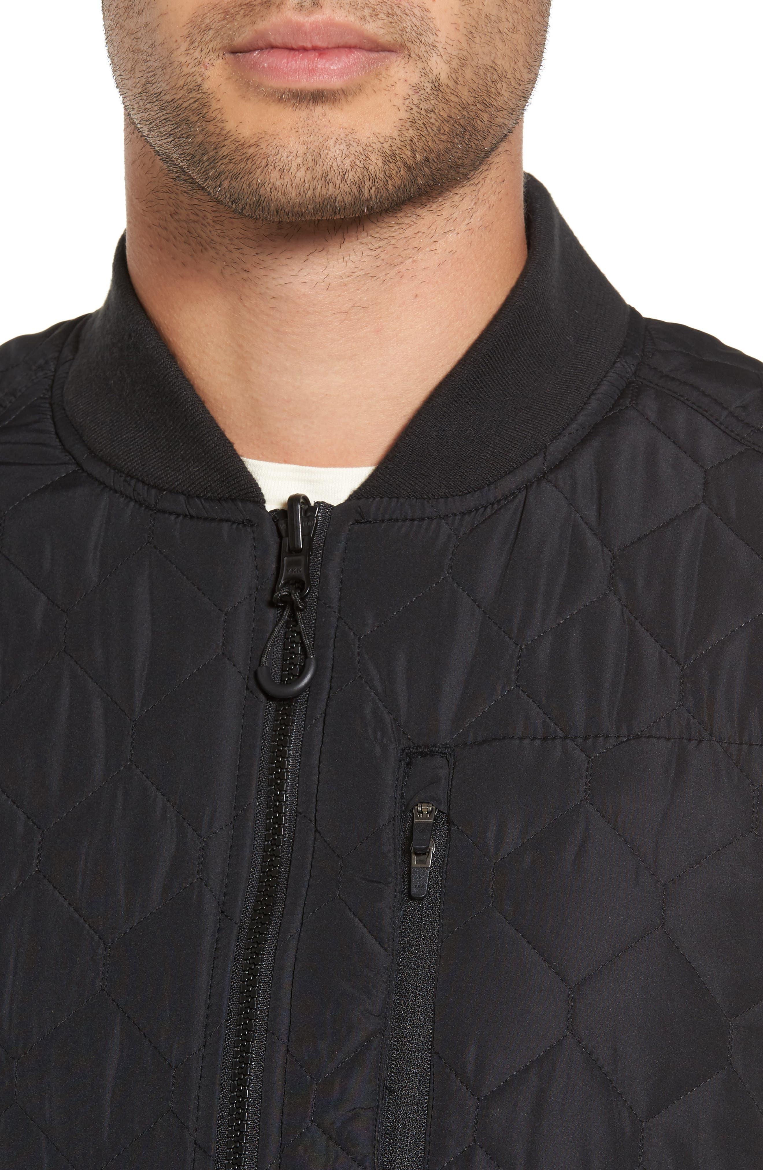 Replicant Quilted Vest,                             Alternate thumbnail 4, color,                             Black