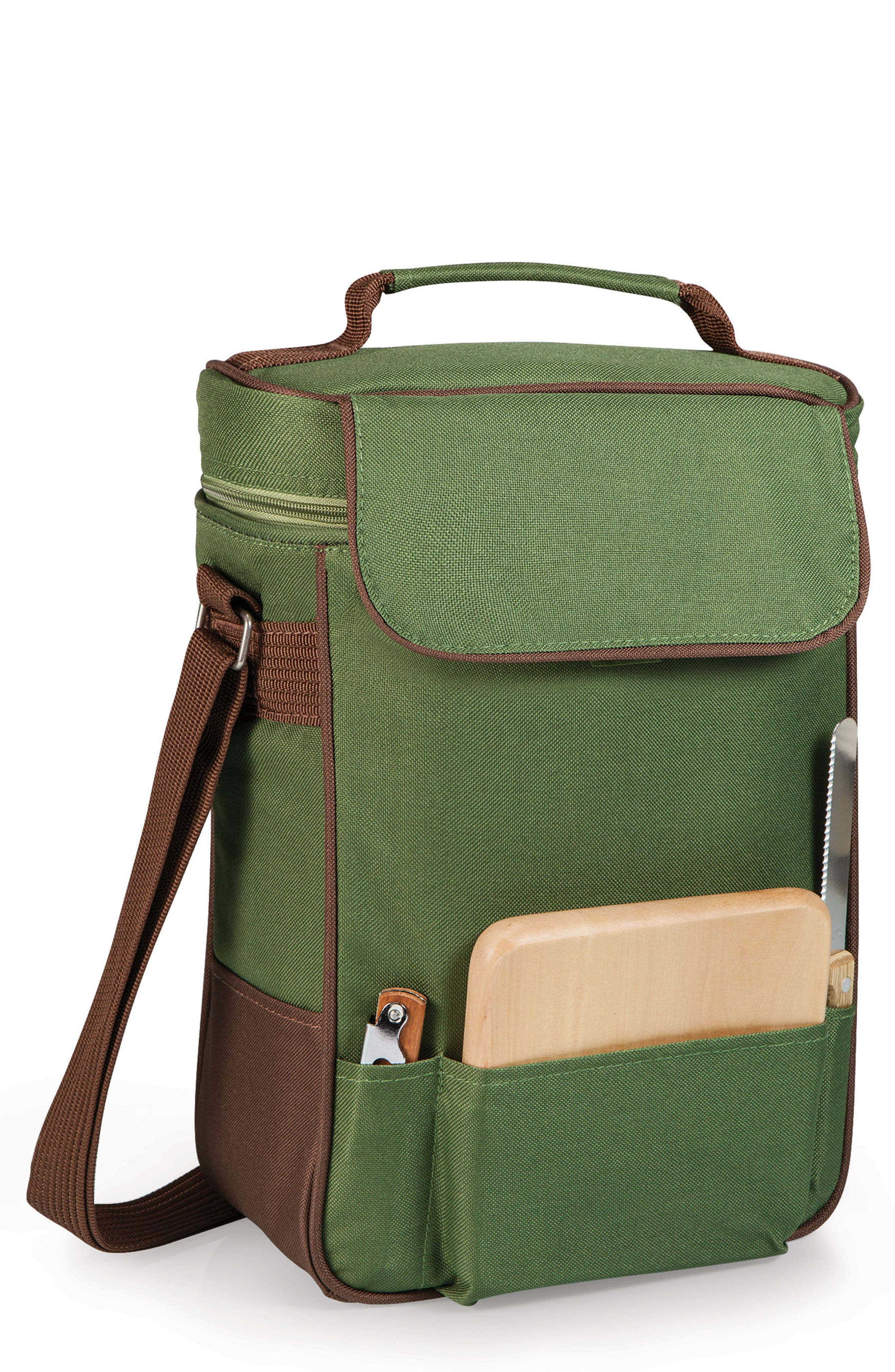 Duet Wine Tote,                         Main,                         color, Pine Green