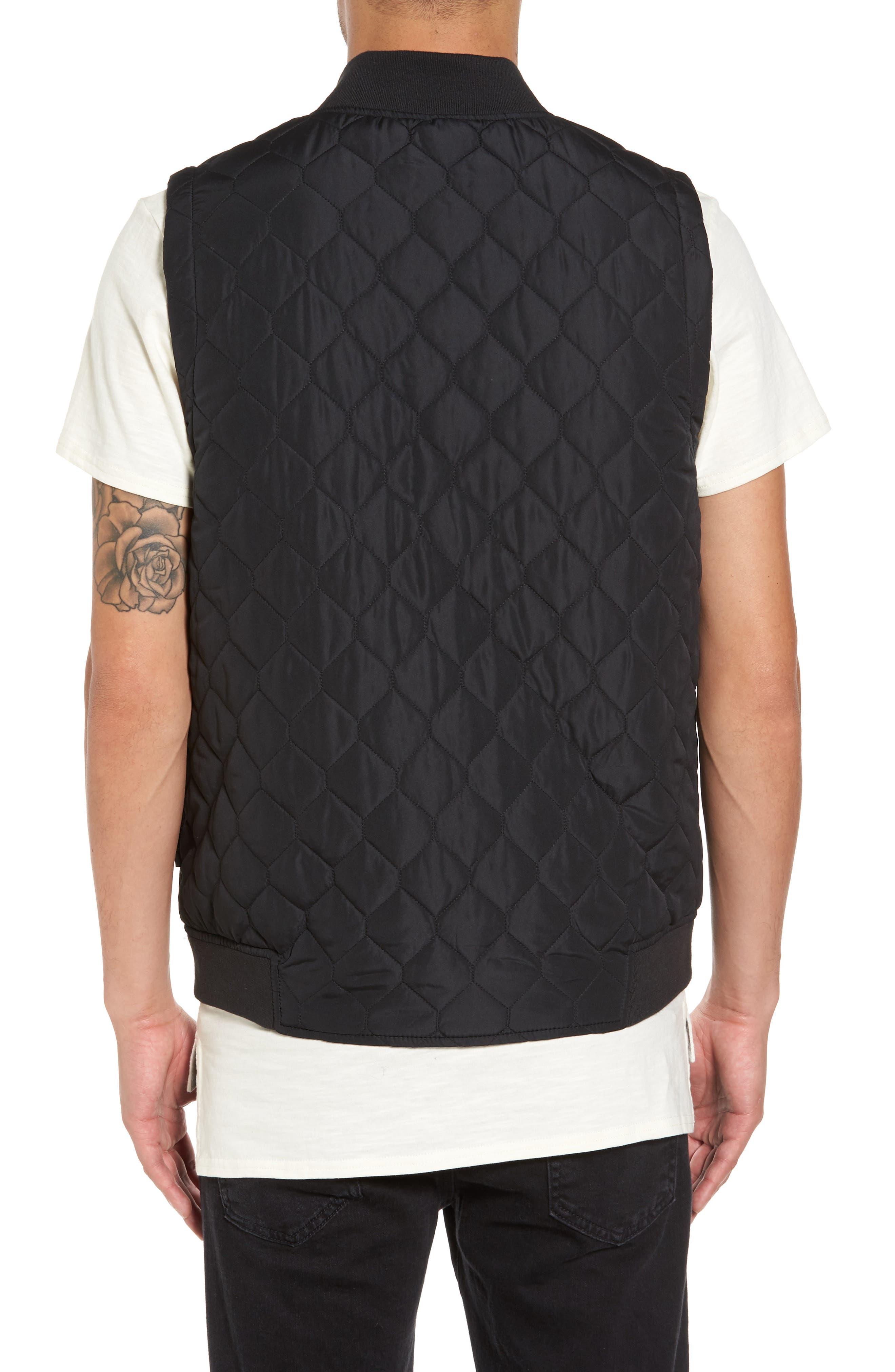 Replicant Quilted Vest,                             Alternate thumbnail 2, color,                             Black