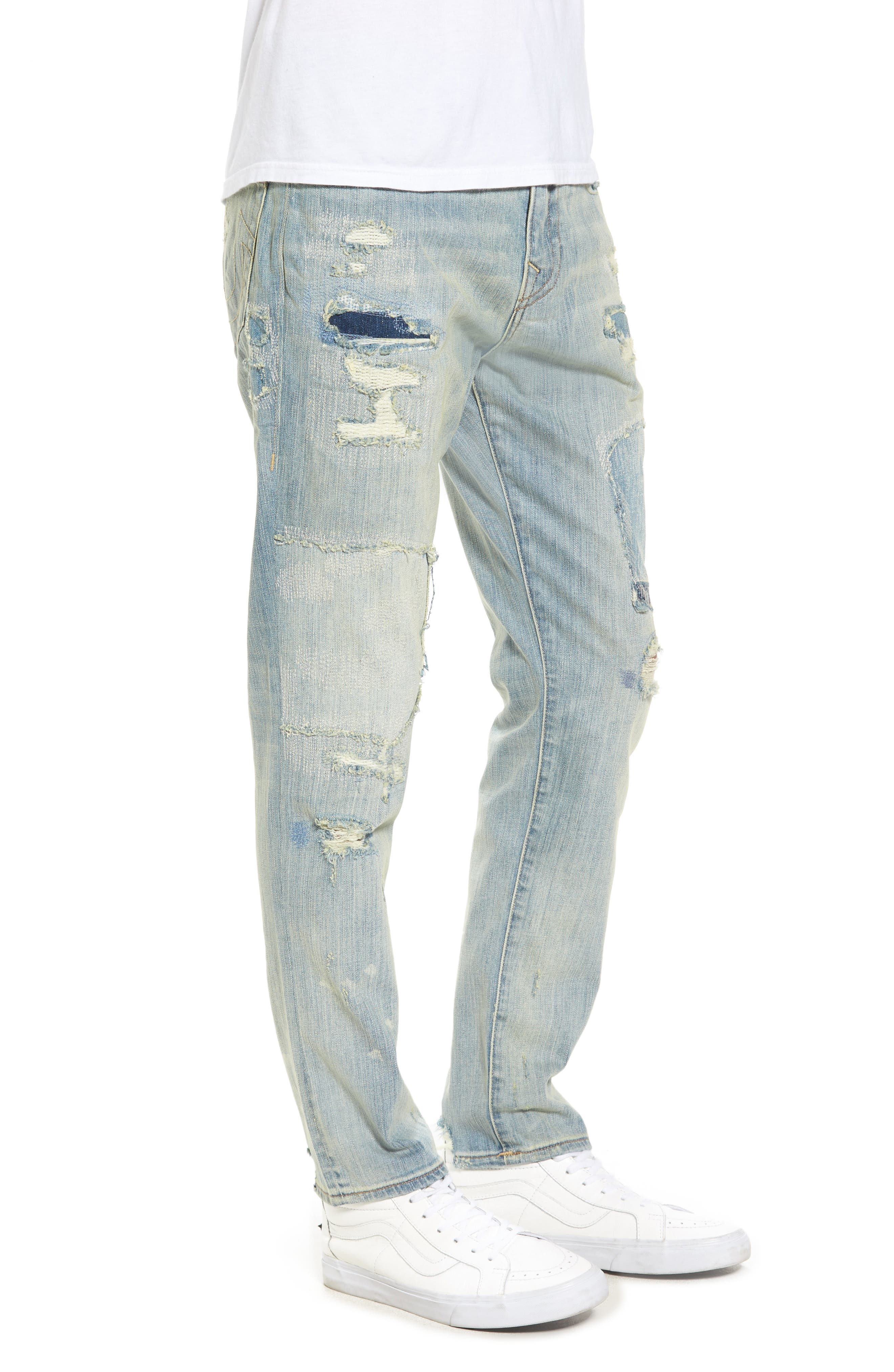 Mick Skinny Fit Jeans,                             Alternate thumbnail 3, color,                             Indigo Immortal