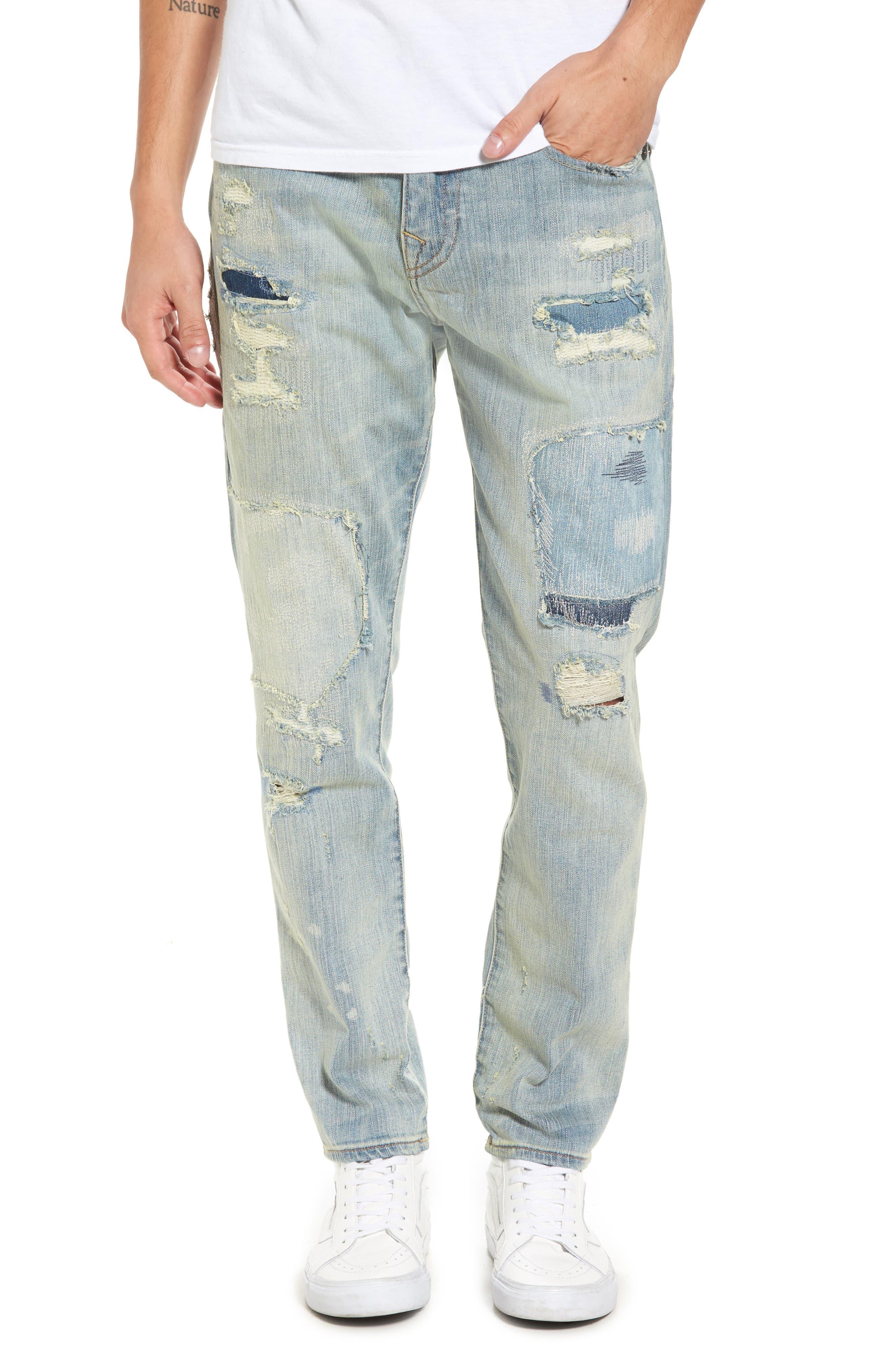 Alternate Image 1 Selected - True Religion Brand Jeans Mick Skinny Fit Jeans (Indigo Immortal)