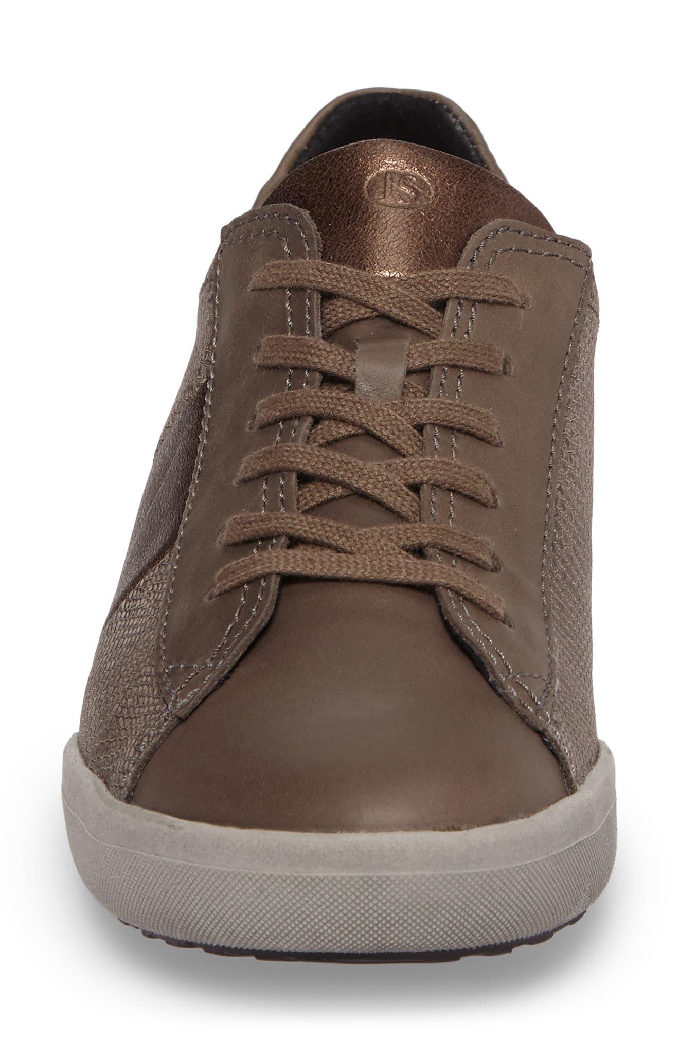 Sina 27 Sneaker,                             Alternate thumbnail 4, color,                             Asphalt/ Kombi Leather
