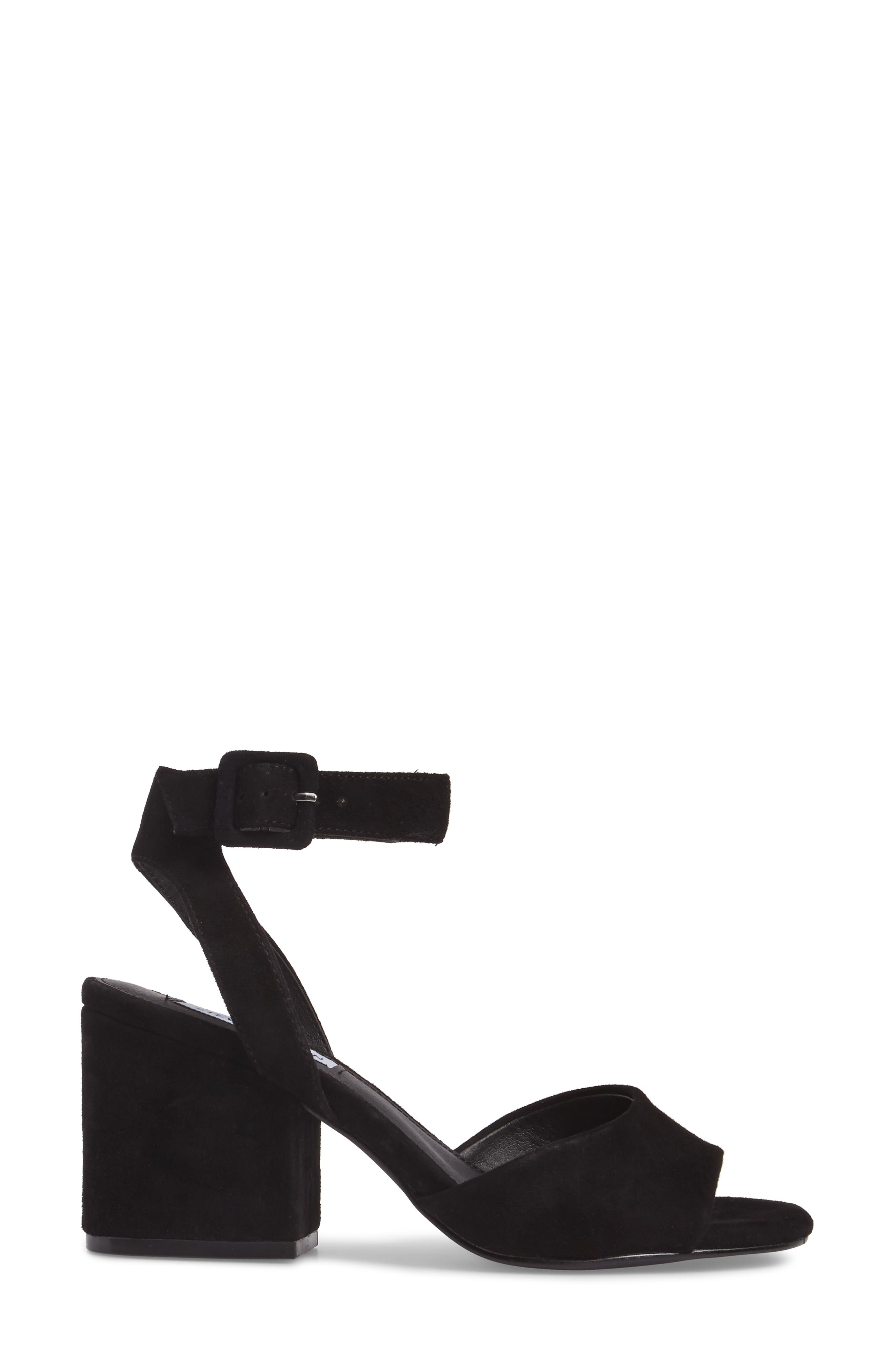 Debbie Sandal,                             Alternate thumbnail 3, color,                             Black Suede