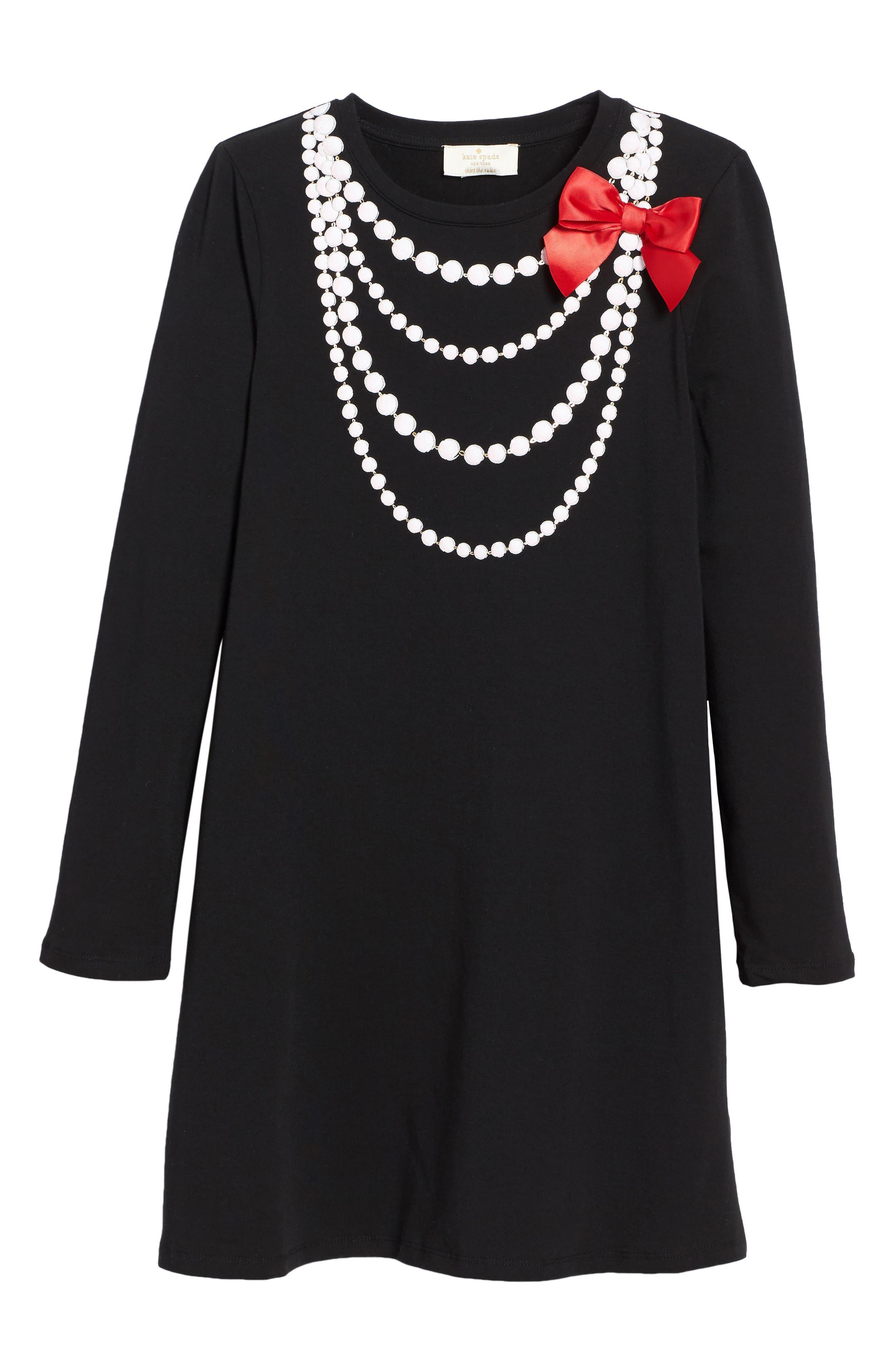 kate spade new york trompe l'oeil necklace dress (Big Girls)