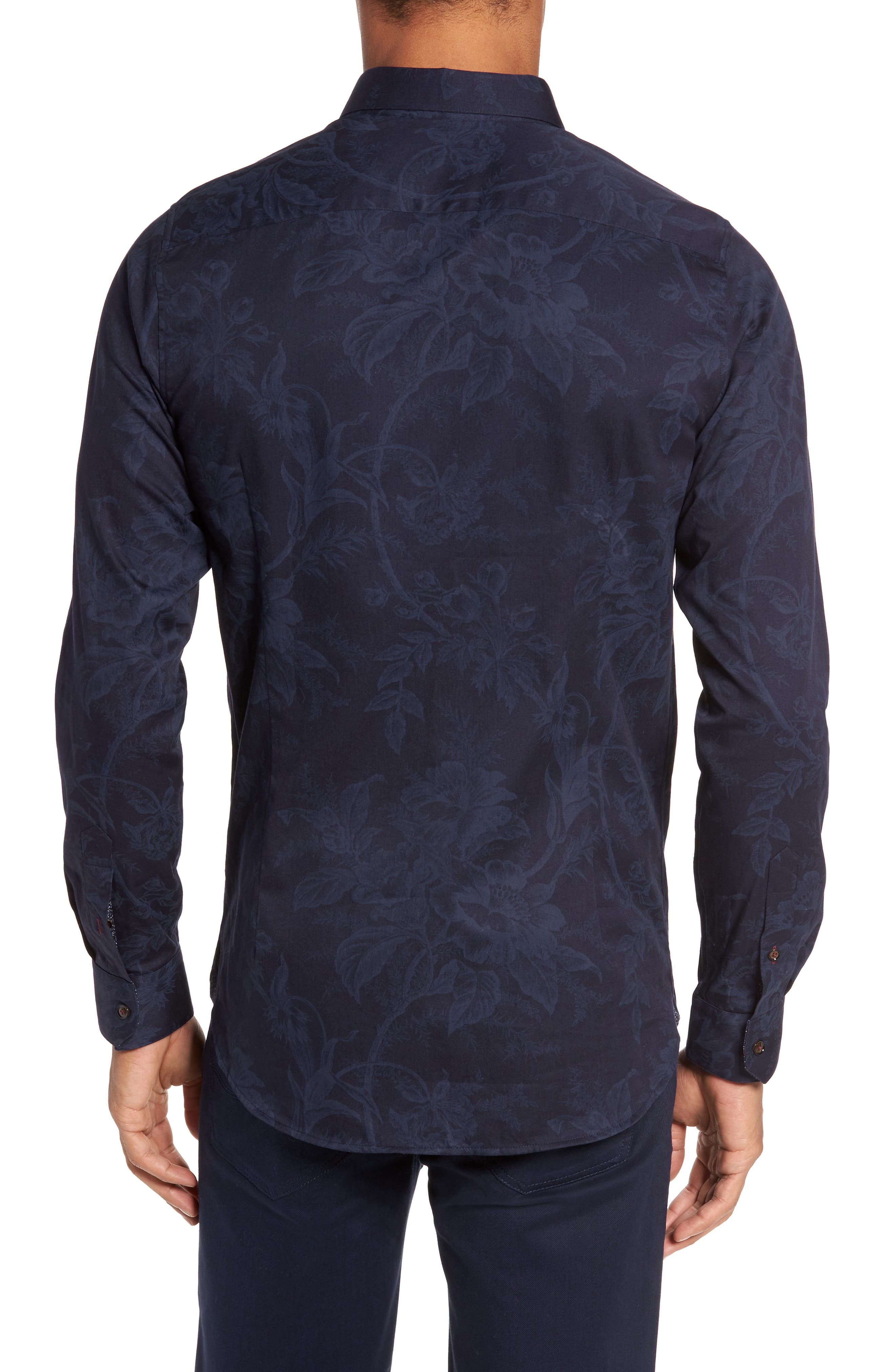 Alternate Image 2  - Ted Baker London Modern Slim Fit Floral Print Sport Shirt