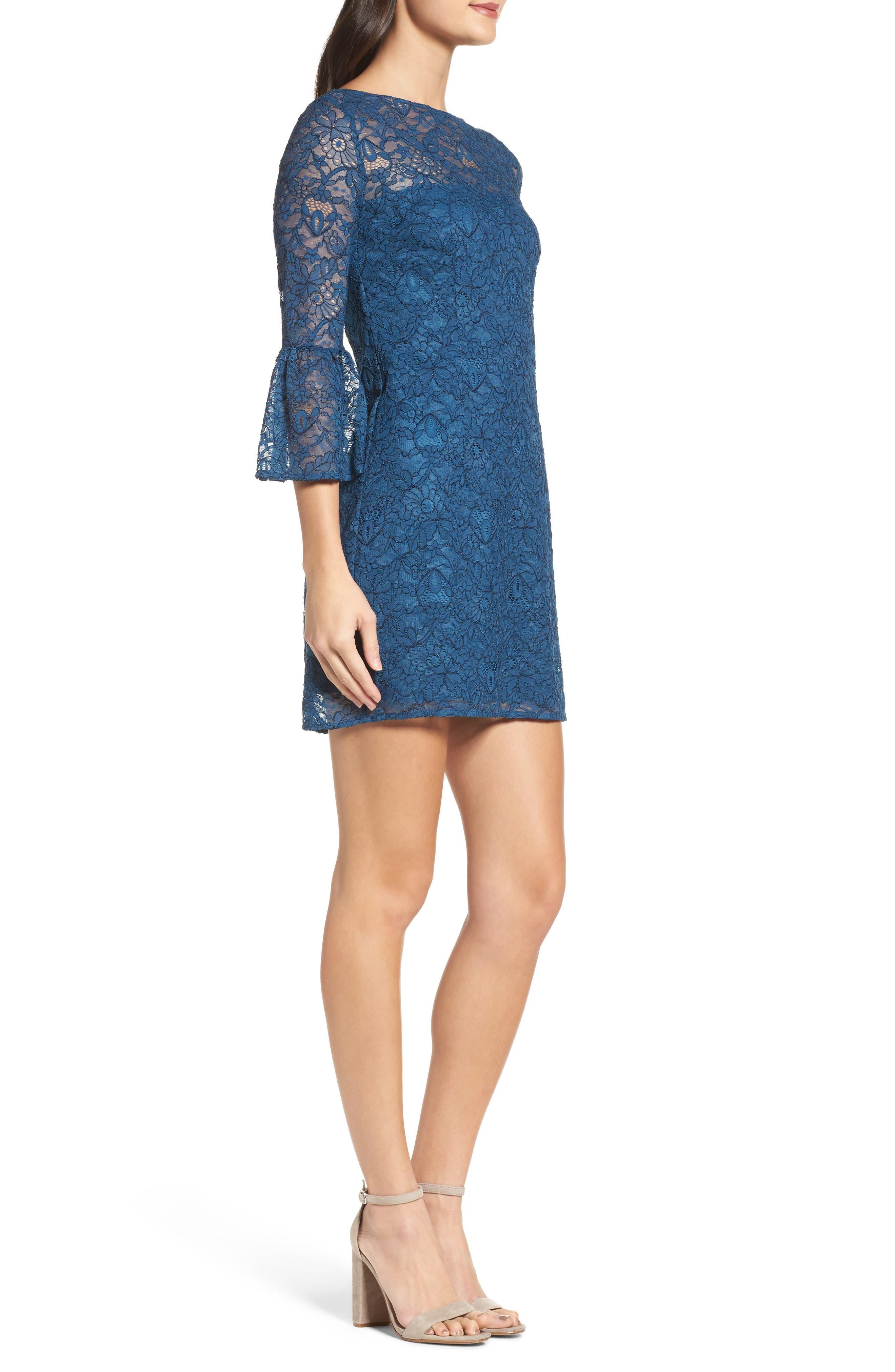 Alternate Image 3  - BB Dakota Billie Bell Sleeve Lace Dress
