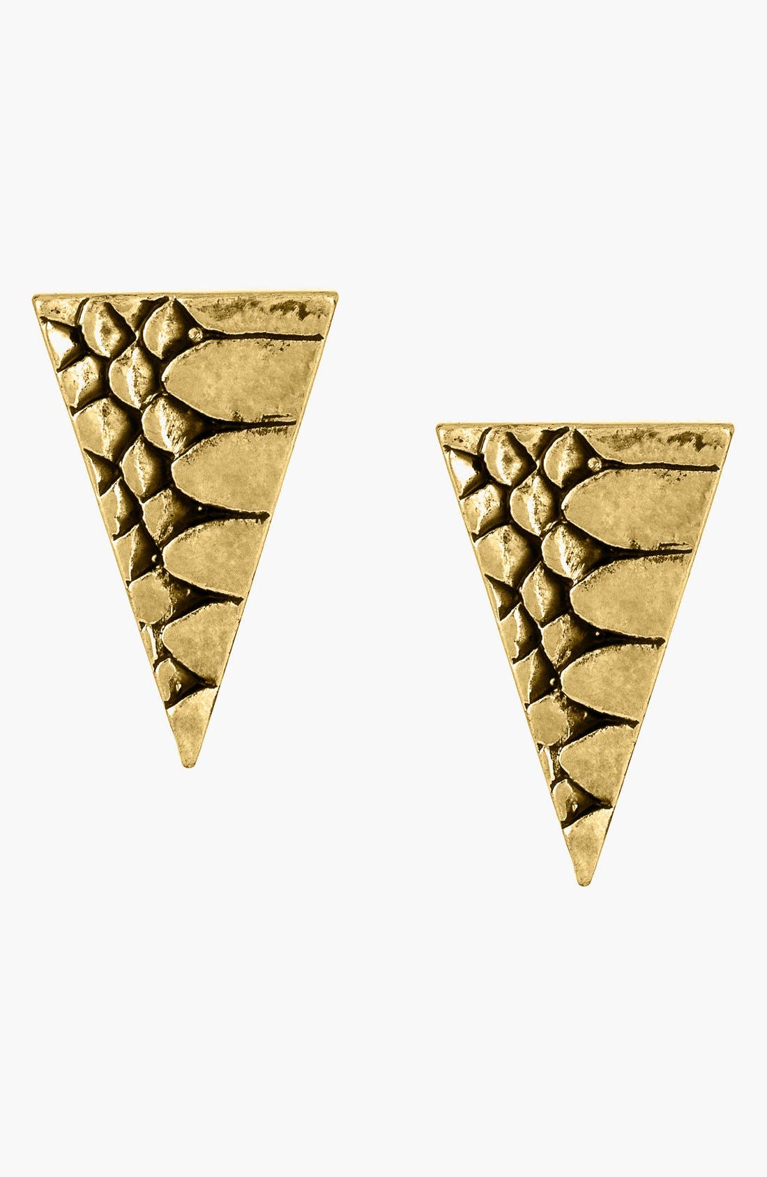 Alternate Image 1 Selected - Sam Edelman Scale Texture Stud Earrings
