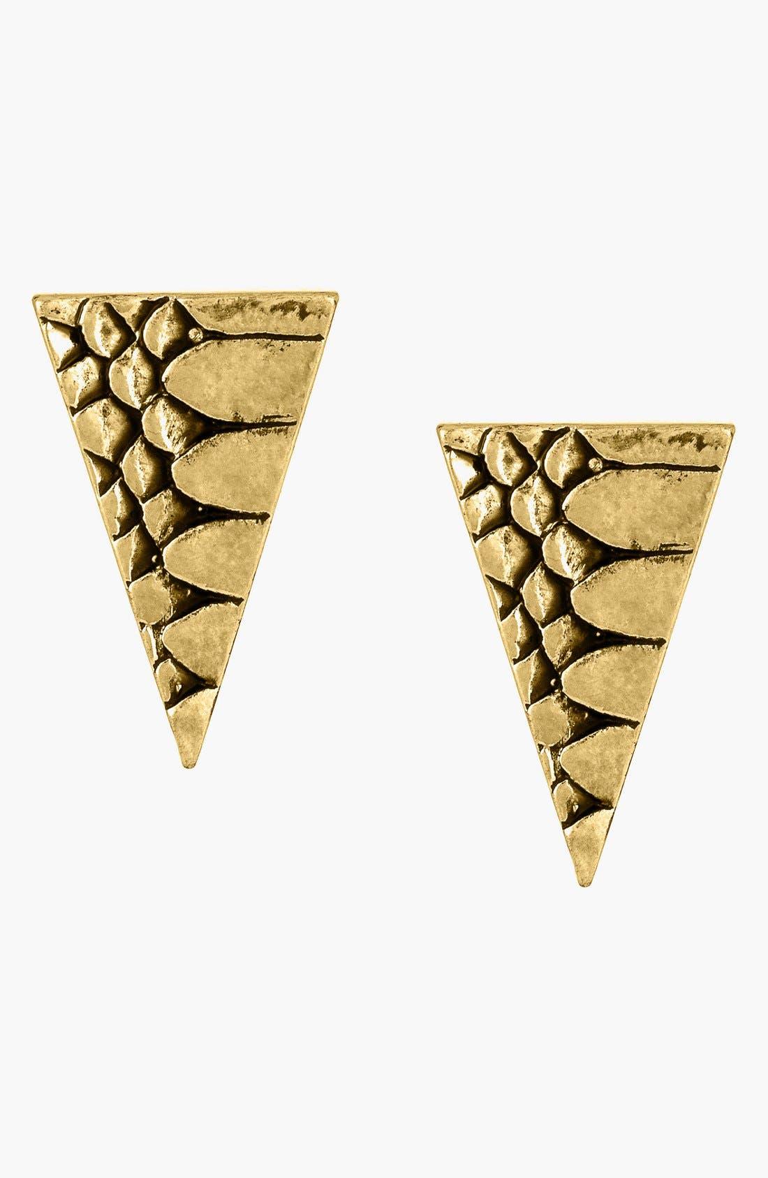 Main Image - Sam Edelman Scale Texture Stud Earrings