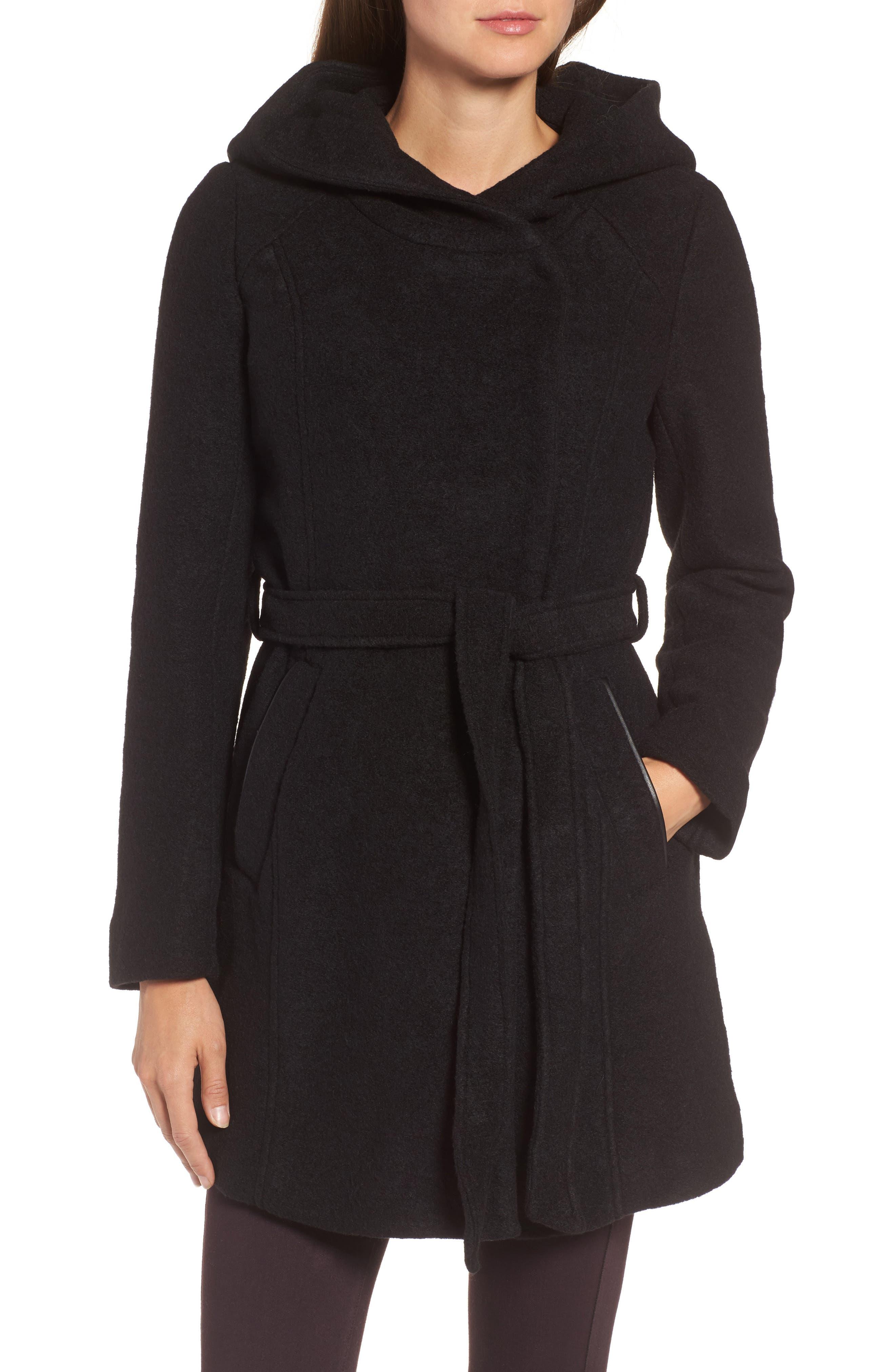 Alternate Image 4  - Andrew Marc Felted Wool Blend Coat