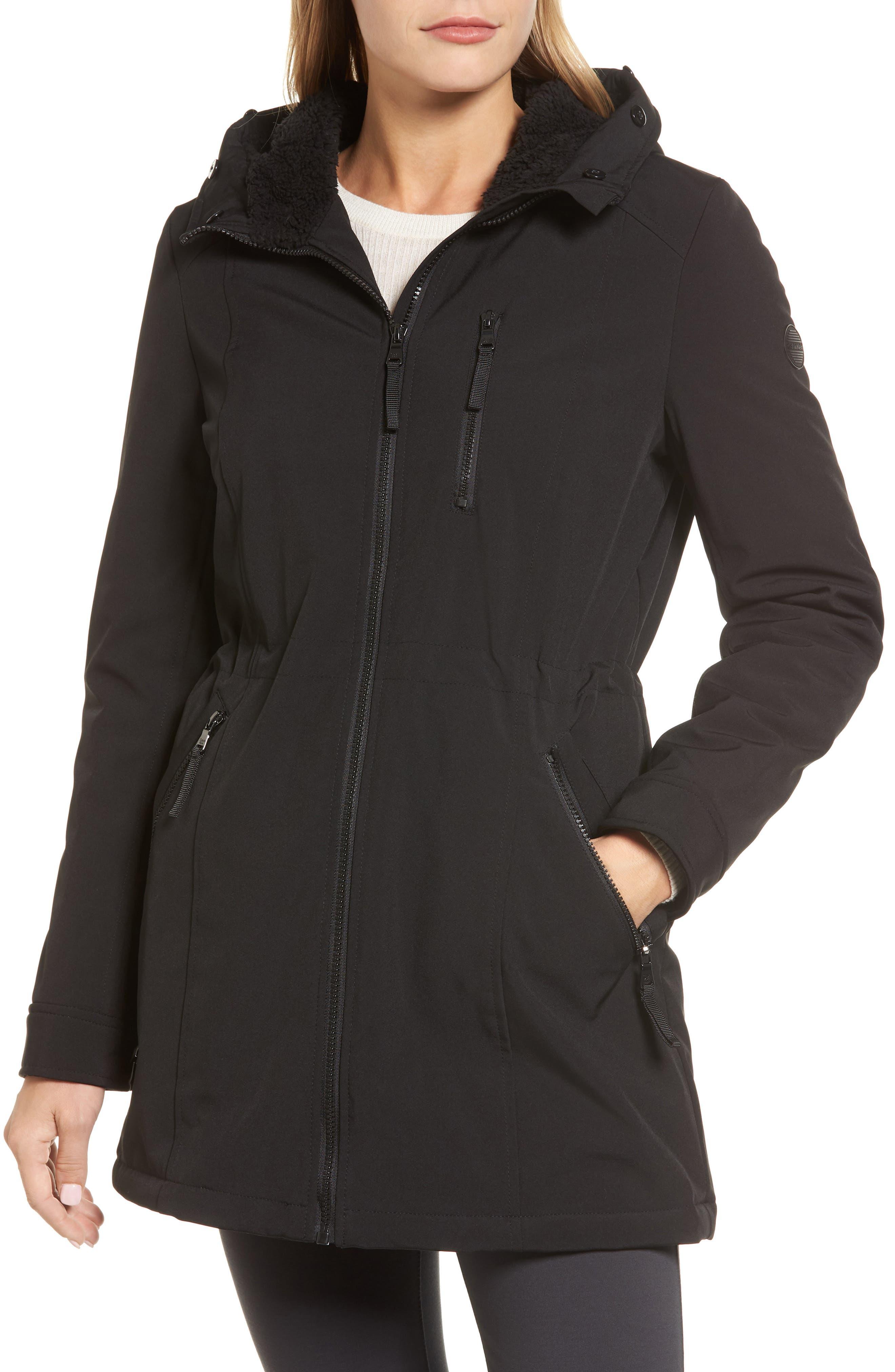 Soft Shell Anorak Jacket,                             Alternate thumbnail 4, color,                             Black