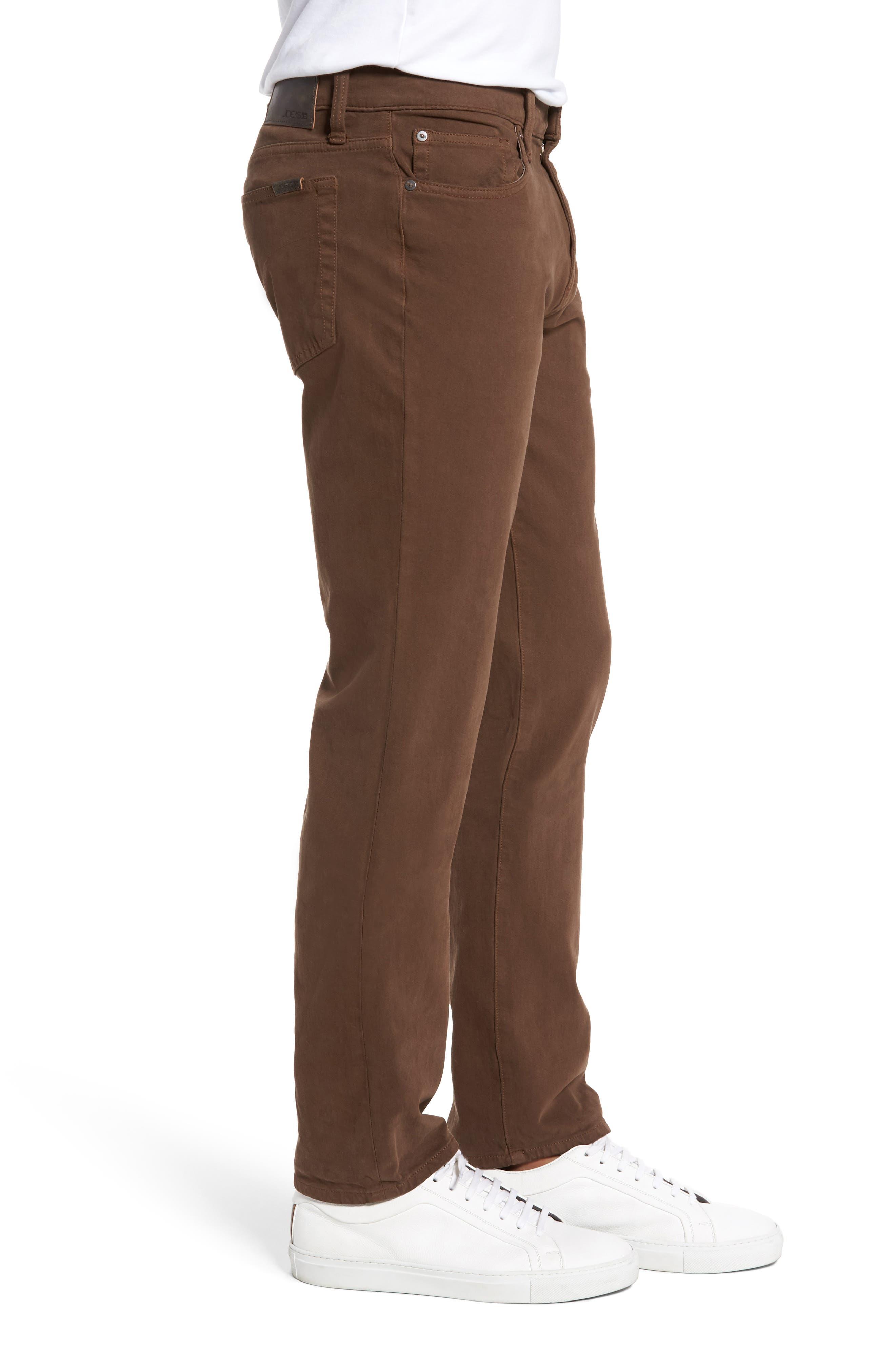 Alternate Image 3  - Joe's Brixton Slim Straight Fit Jeans (Dark Walnut)