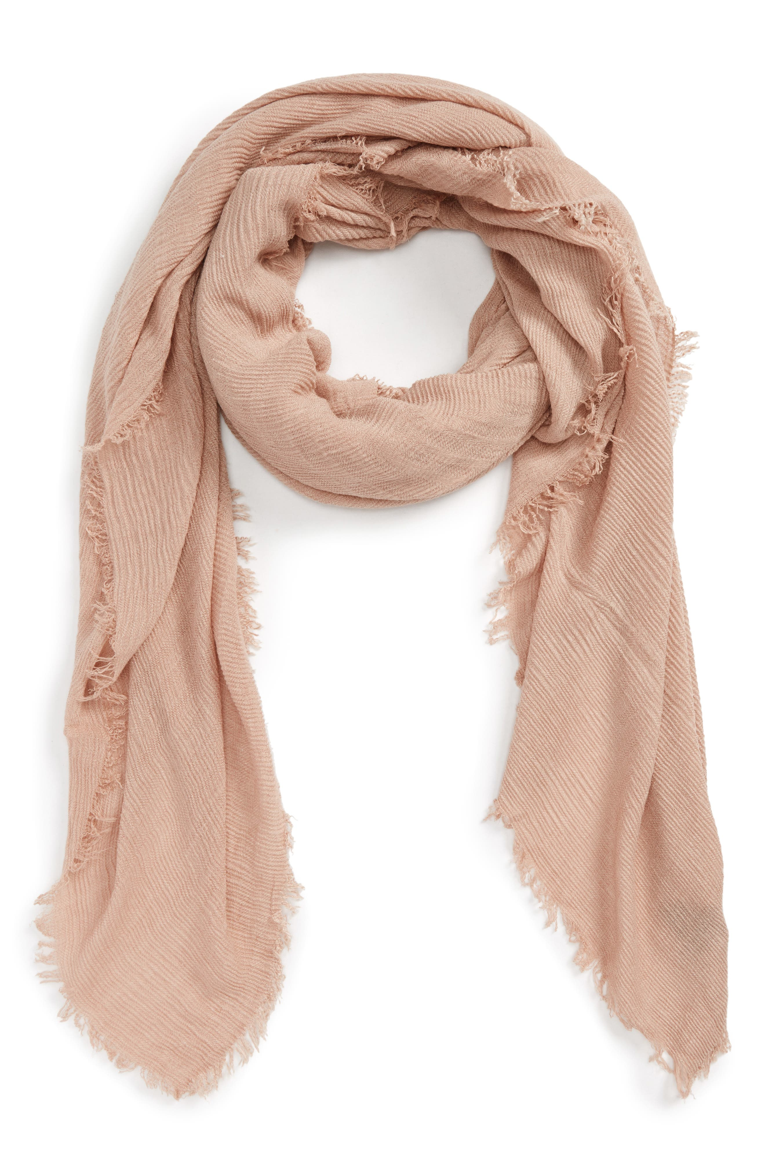 David & Young Pleated Fringe Scarf