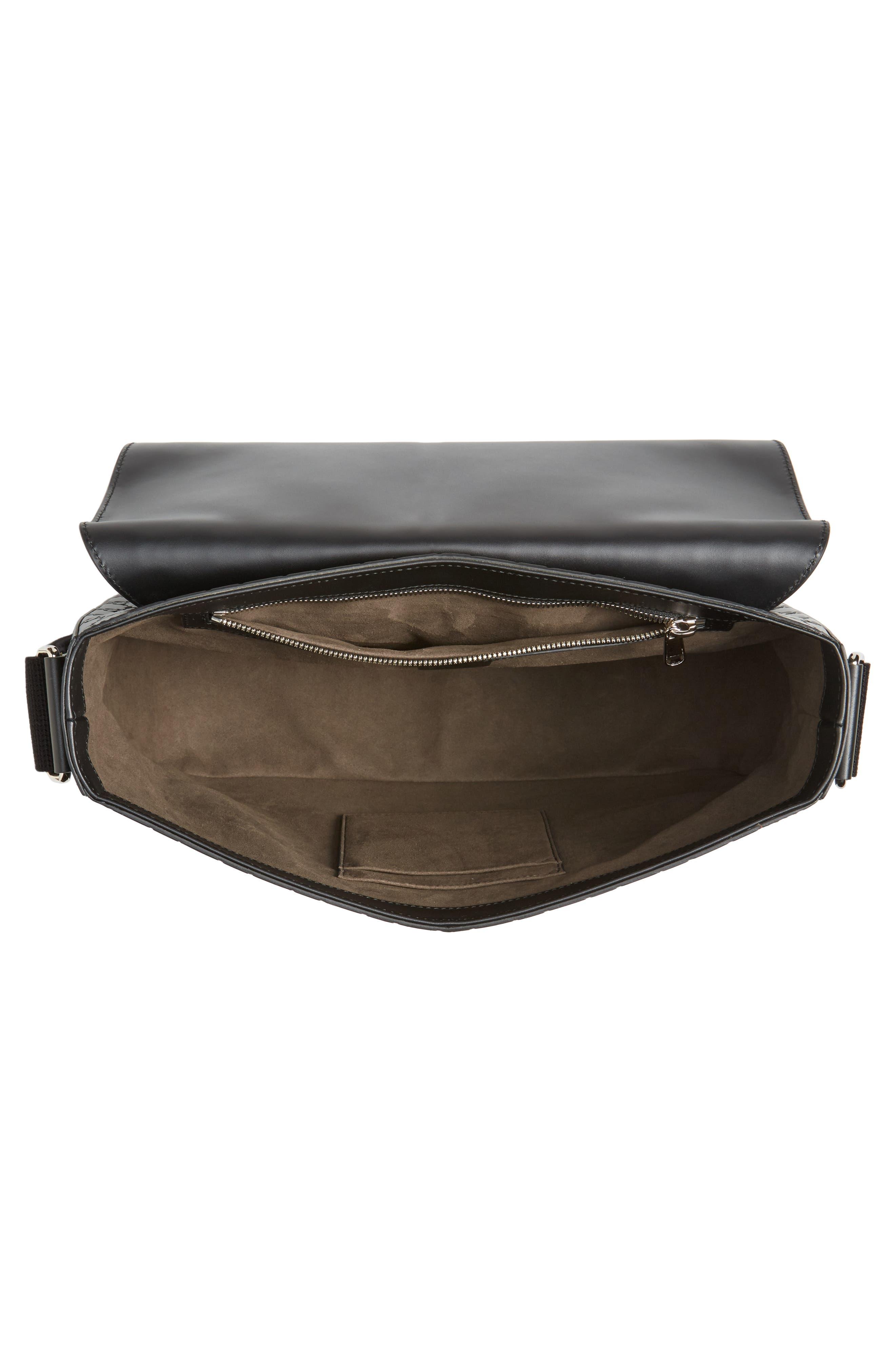 Alternate Image 4  - Gucci GG Leather Messenger Bag