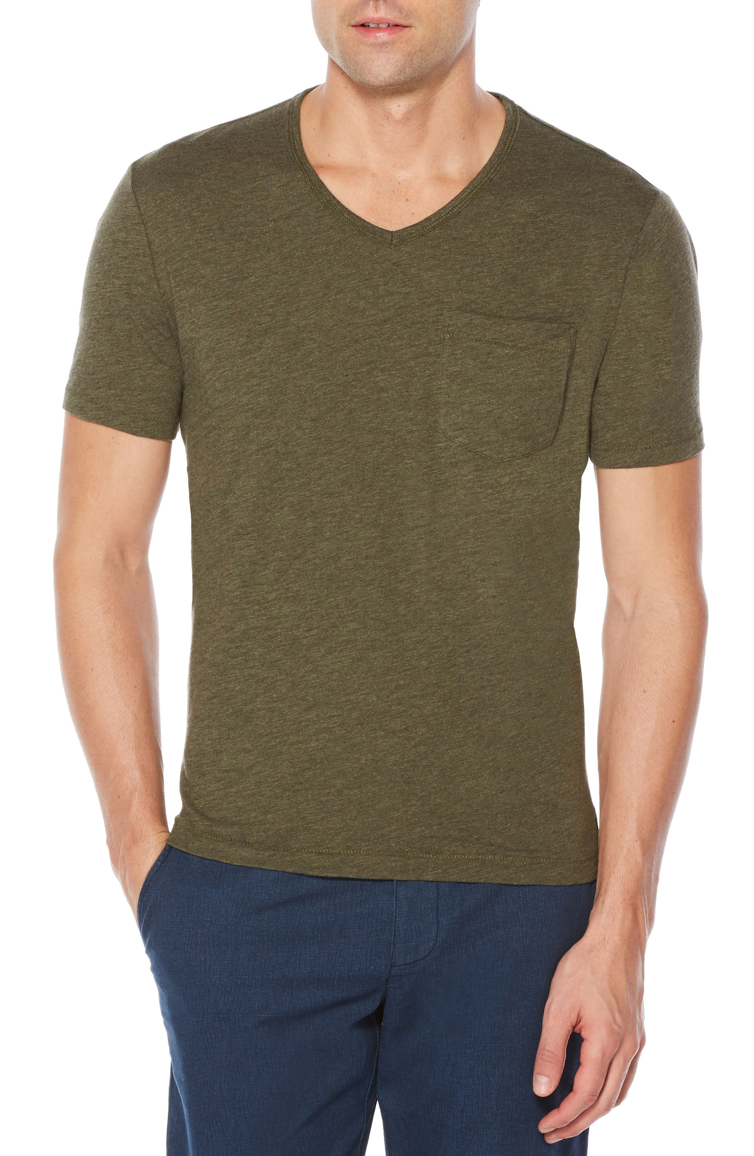 Bing V-Neck T-Shirt,                         Main,                         color, Forest Night