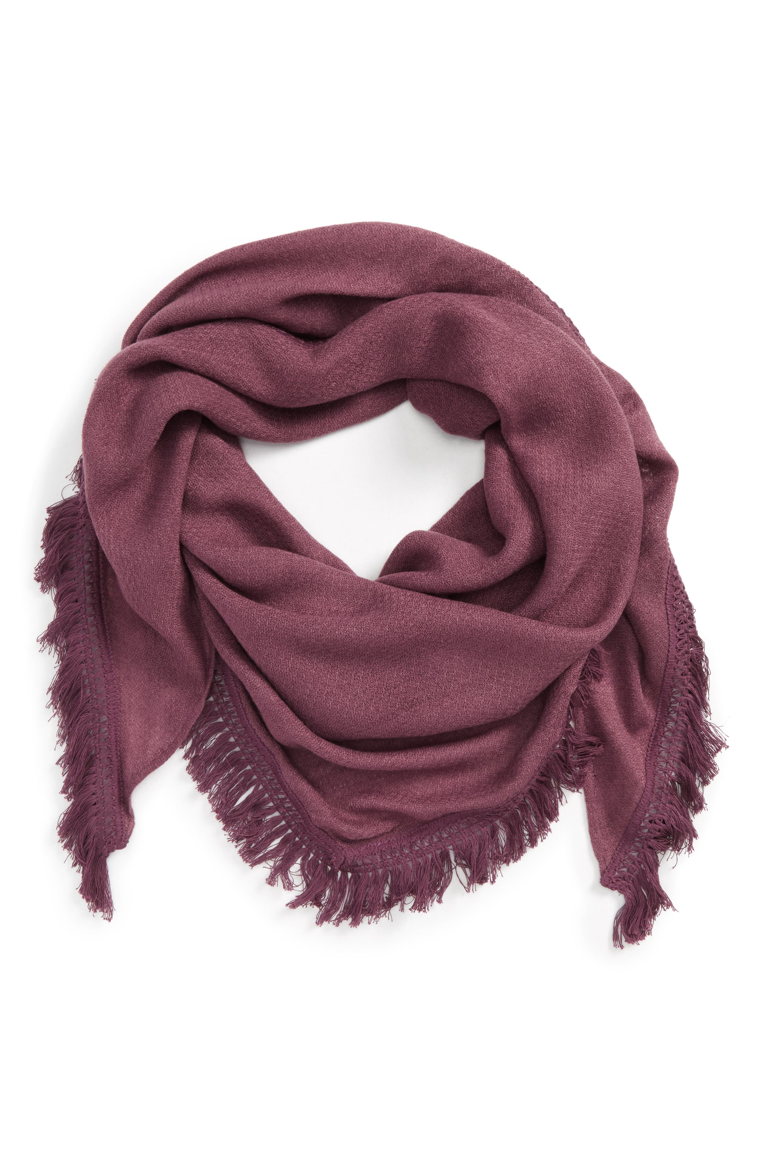 David & Young Fringe Triangle Scarf