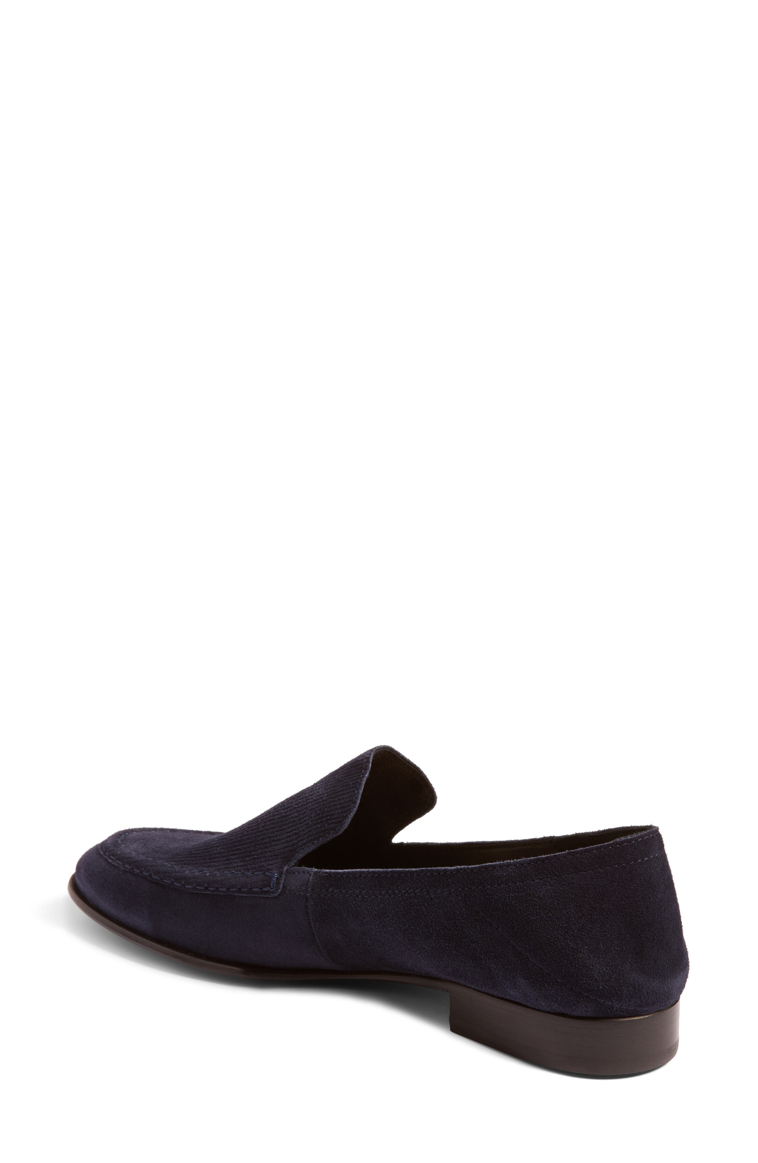 Alix Convertible Loafer,                             Alternate thumbnail 3, color,                             Navy Suede
