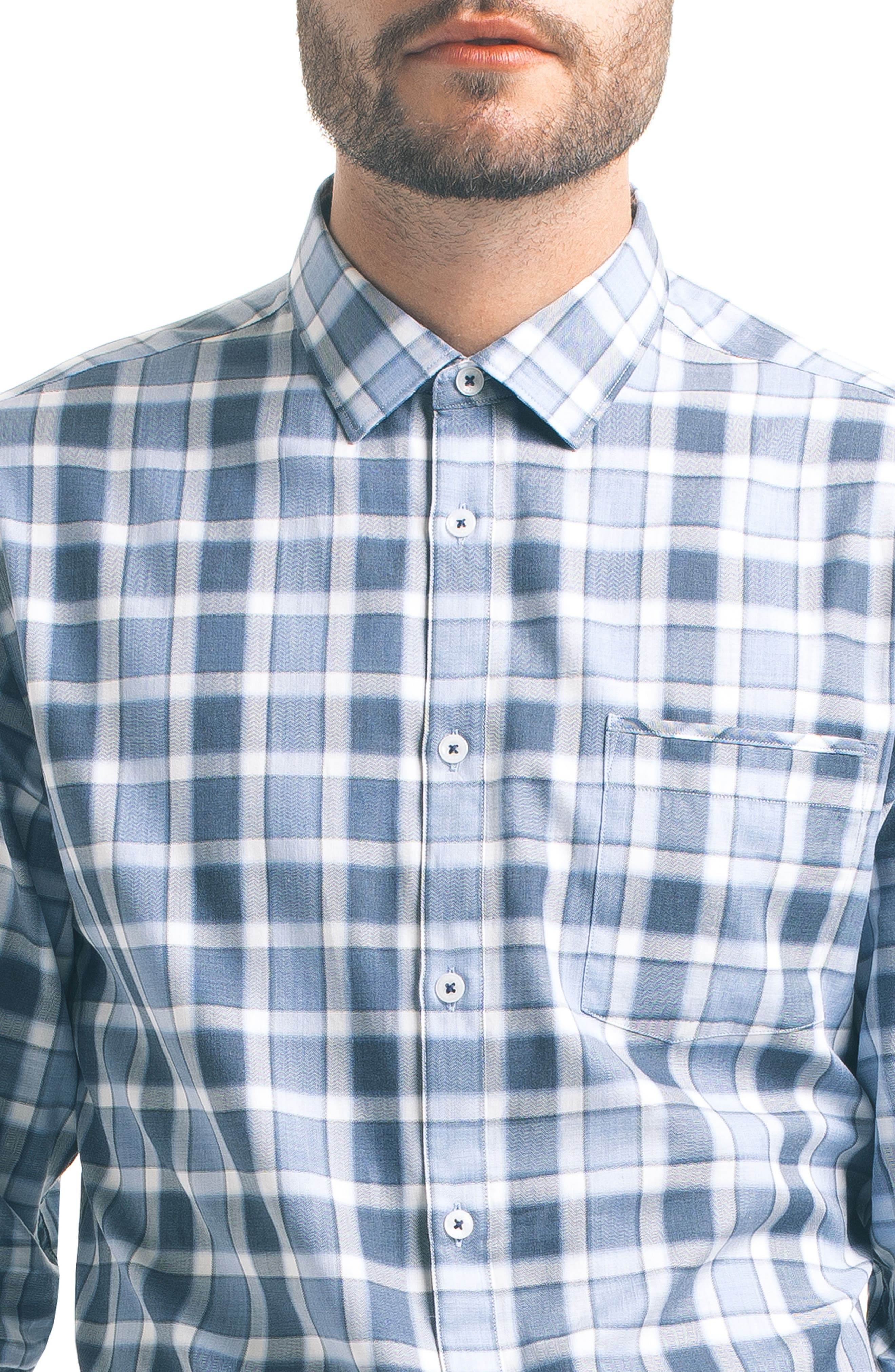 Alternate Image 4  - Good Man Brand Slim Fit Windowpane Check Sport Shirt