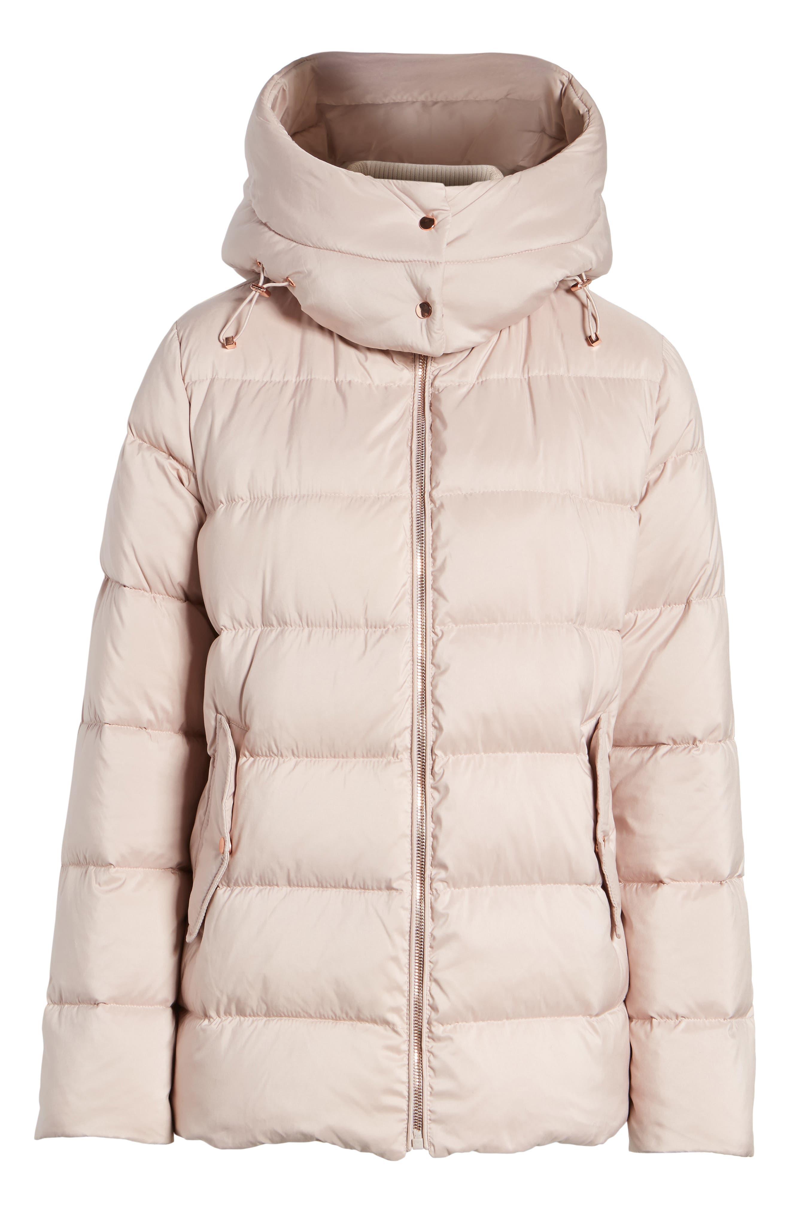 Hooded Puffer Jacket,                             Alternate thumbnail 7, color,                             Petal Pink