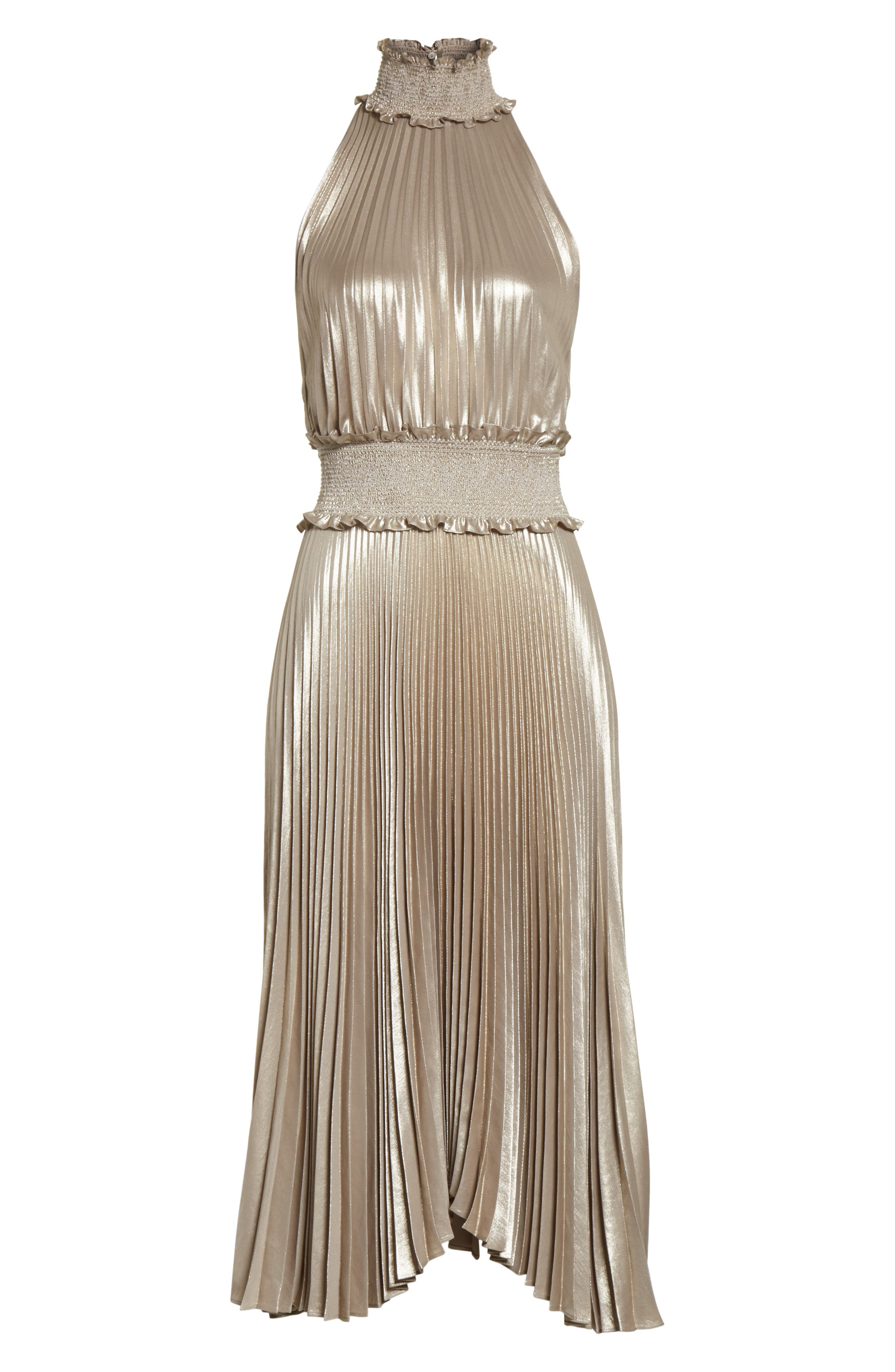 Alternate Image 7  - A.L.C. Kravitz Pleated Midi Dress