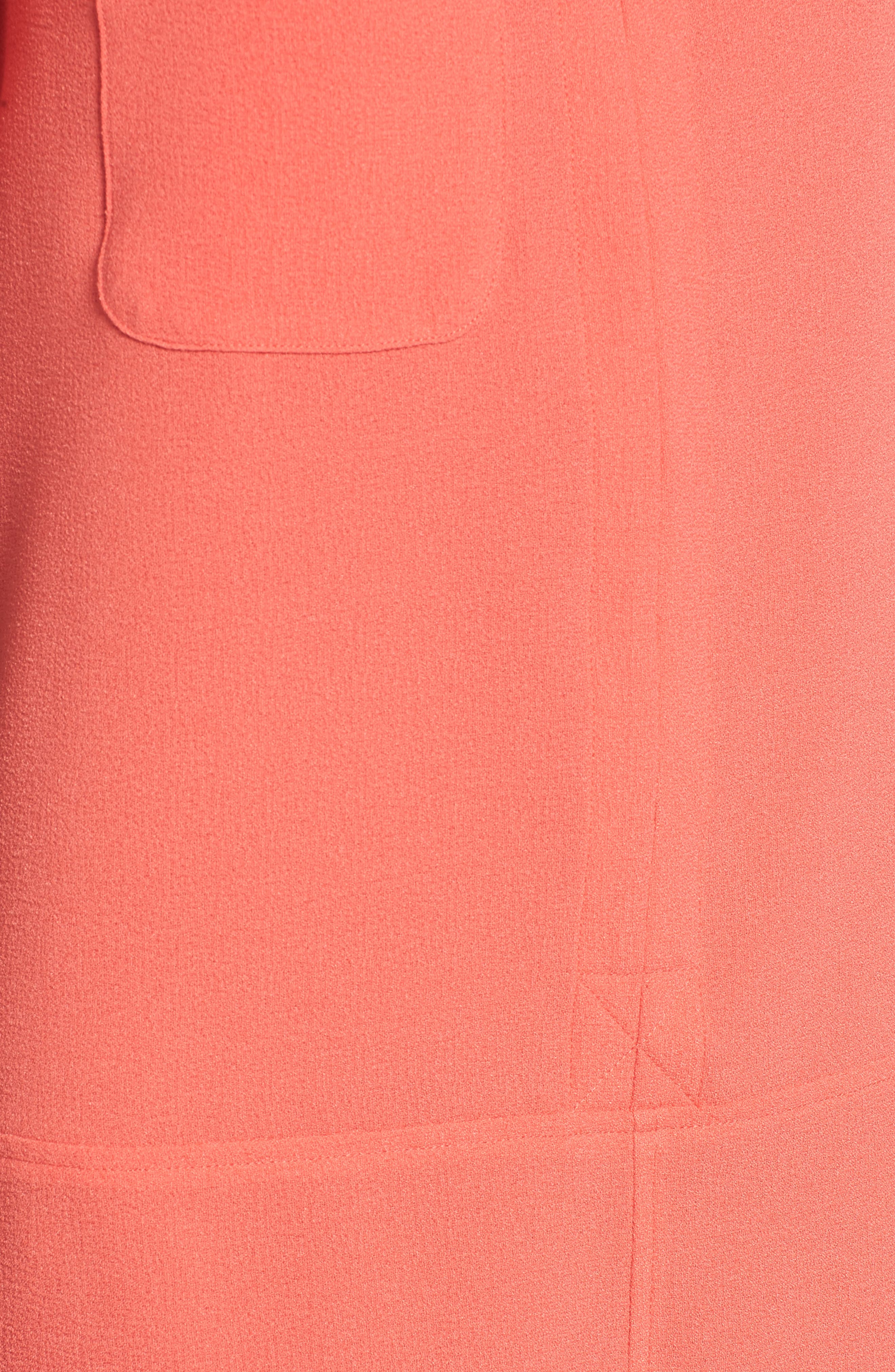 Hailey Crepe Dress,                             Alternate thumbnail 5, color,                             Hot Coral