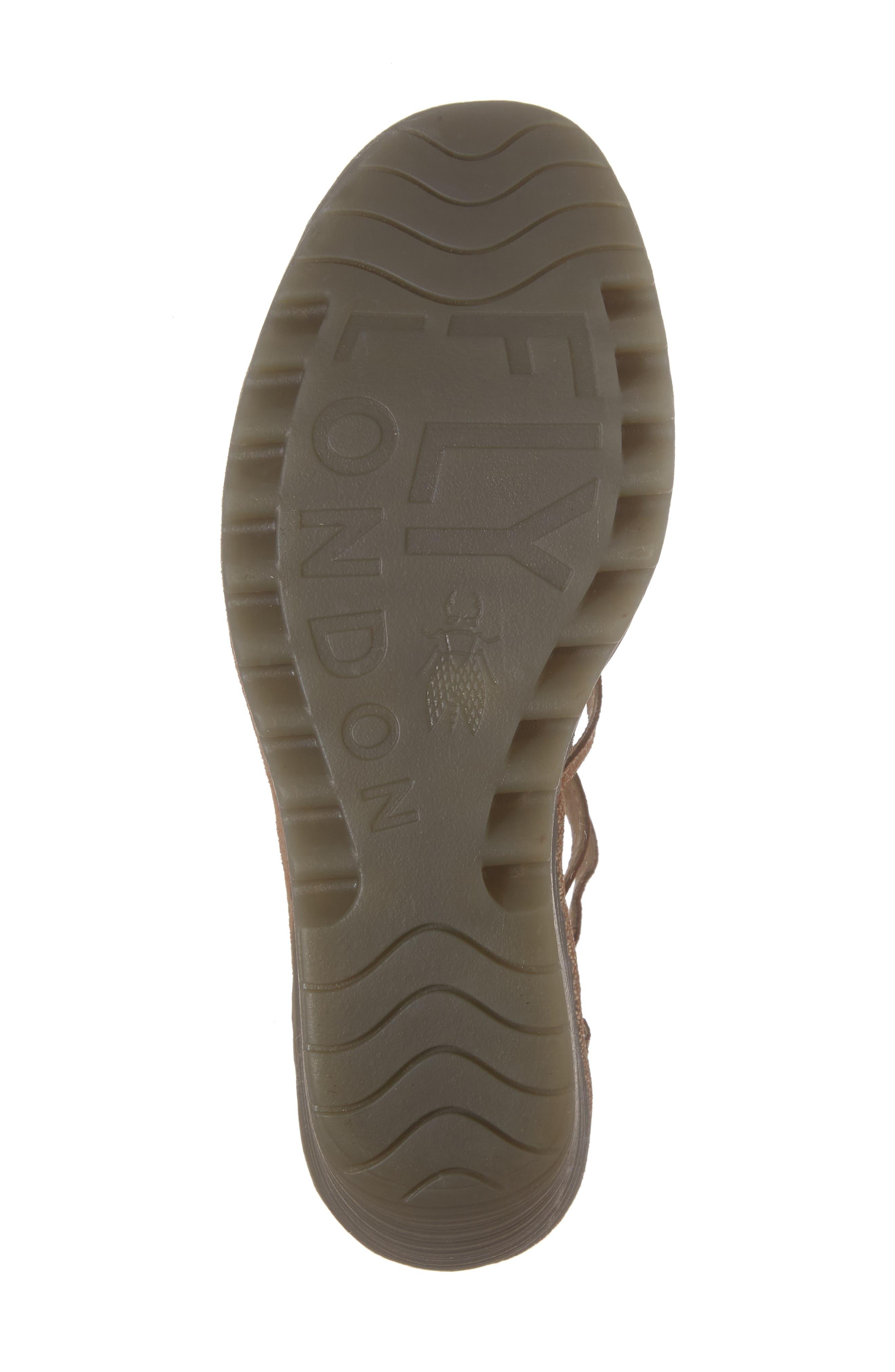 'Yuke' Platform Wedge Sandal,                             Alternate thumbnail 6, color,                             Luna Leather