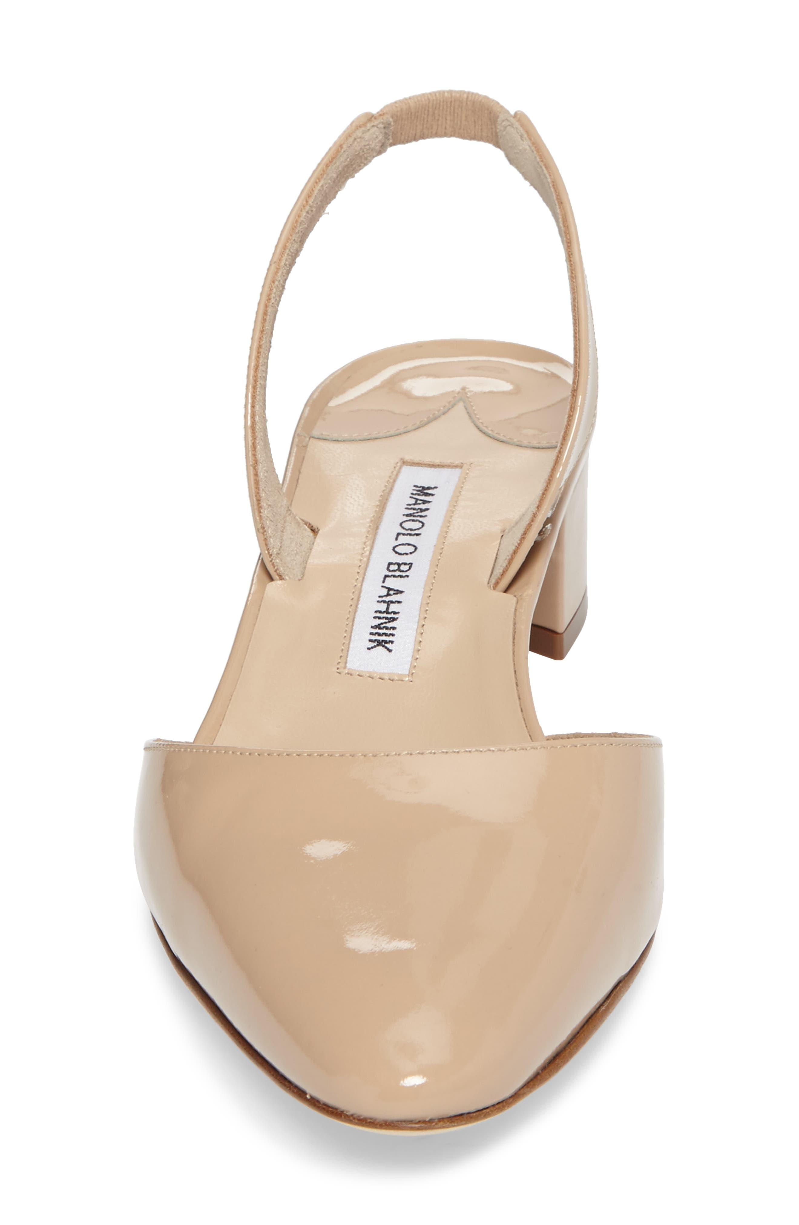 Alternate Image 4  - Manolo Blahnik Aspro Block Heel Pump (Women)