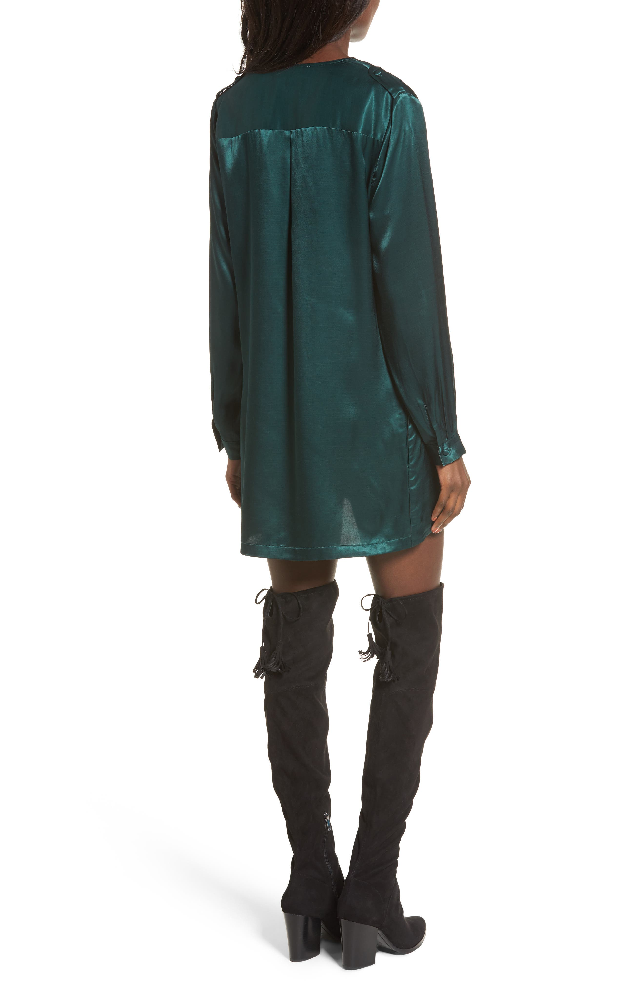 L'Academie The Cadet Shirtdress,                             Alternate thumbnail 2, color,                             Emerald