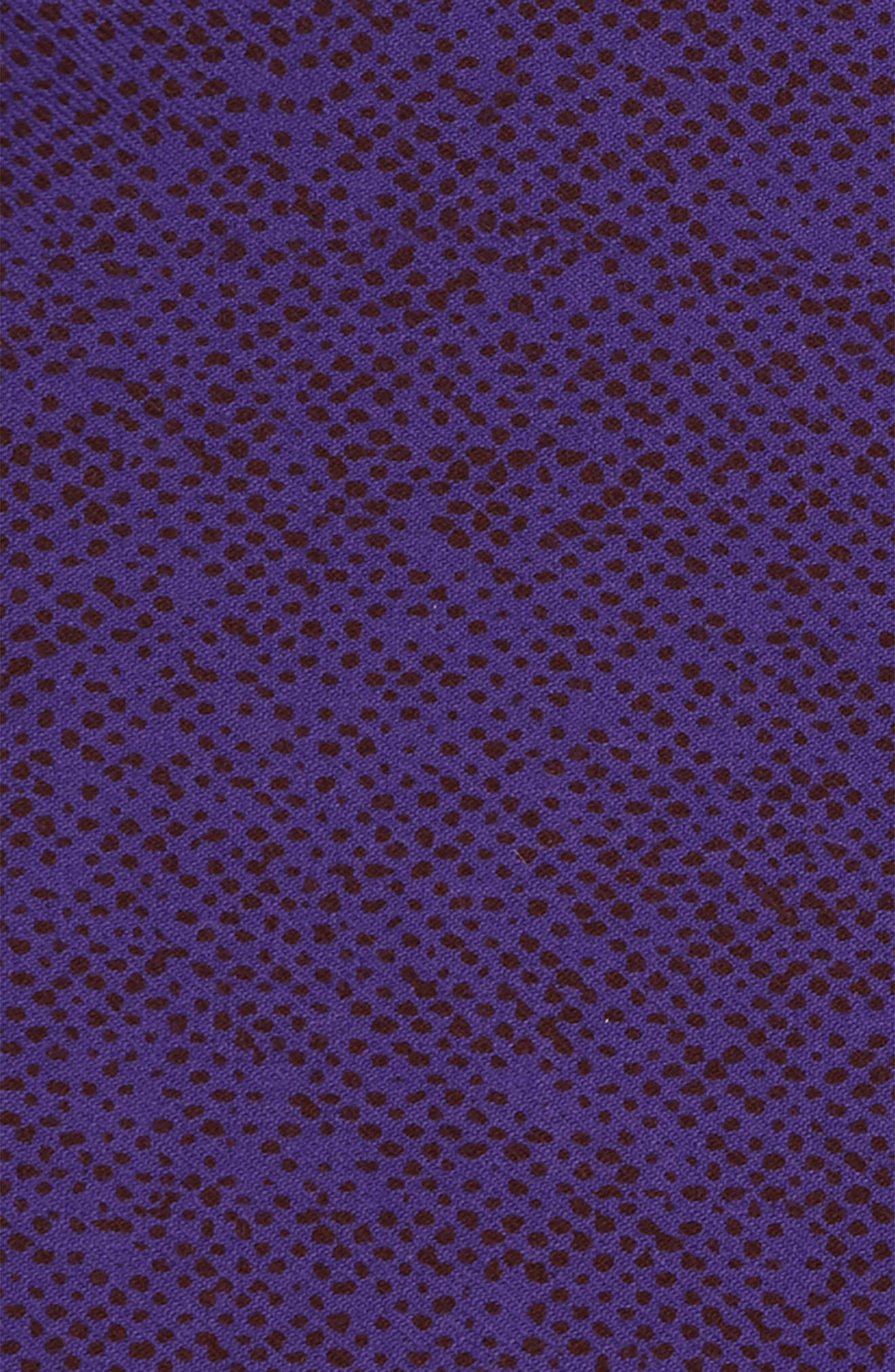 Purple Dot Wool Pocket Square,                             Alternate thumbnail 3, color,                             Purple
