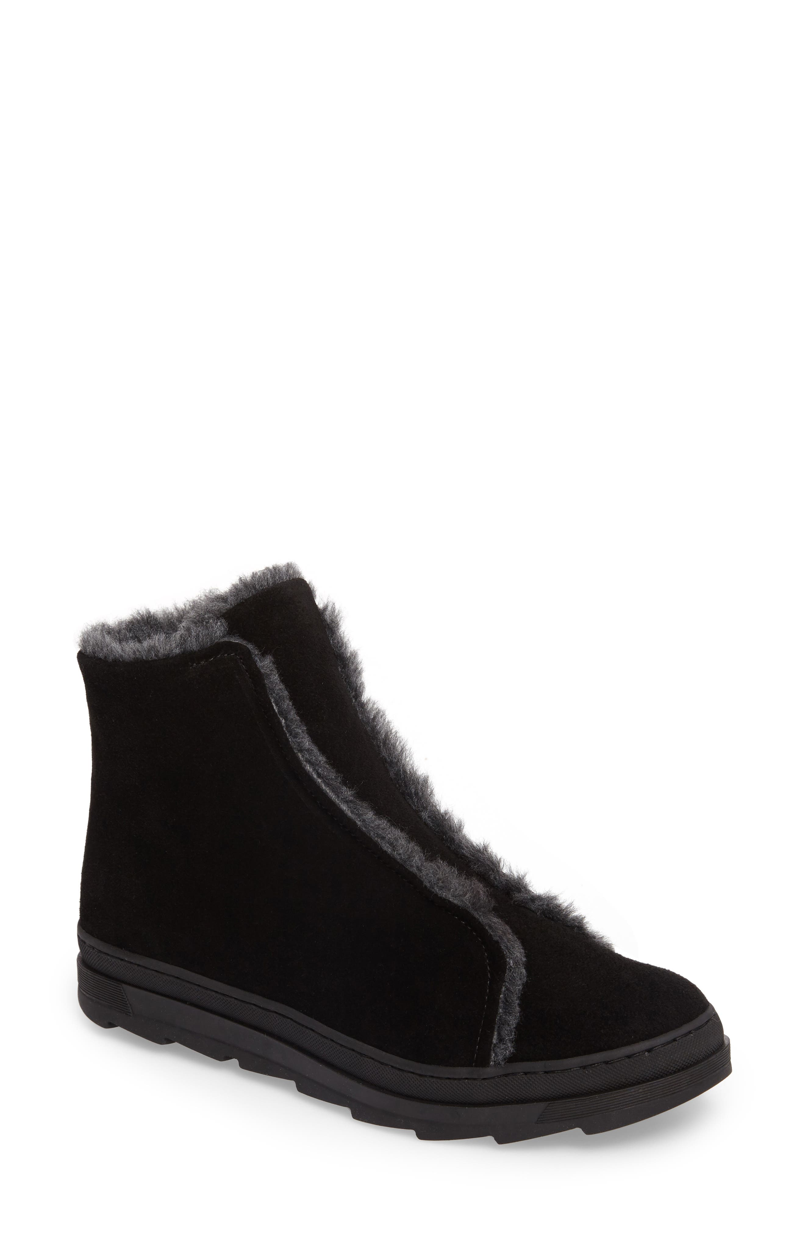 Virina Boot,                         Main,                         color, Black Suede