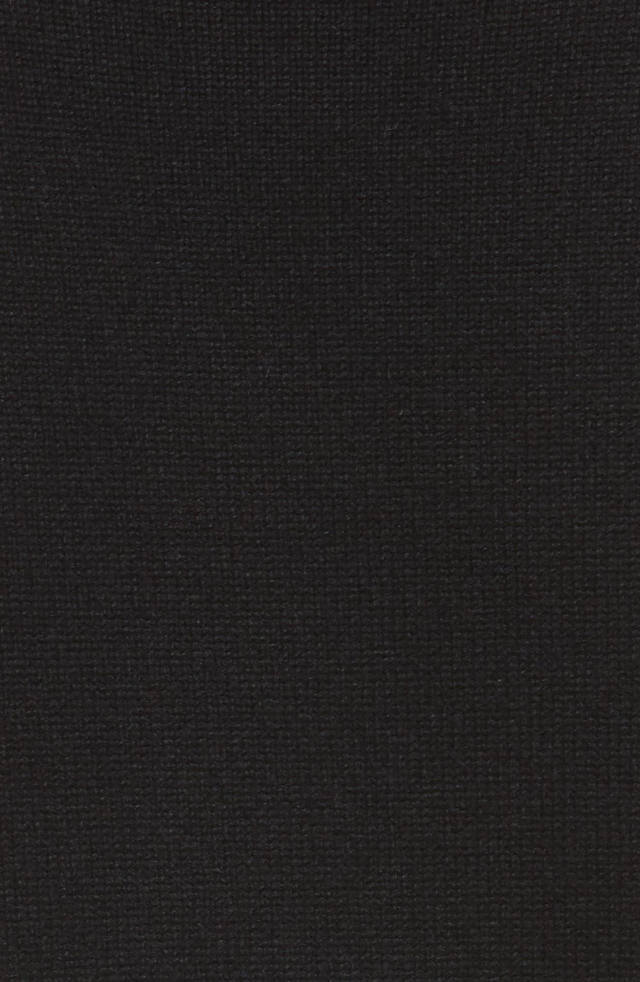 Cashmere Blend Bell Sleeve Dress,                             Alternate thumbnail 6, color,                             Black