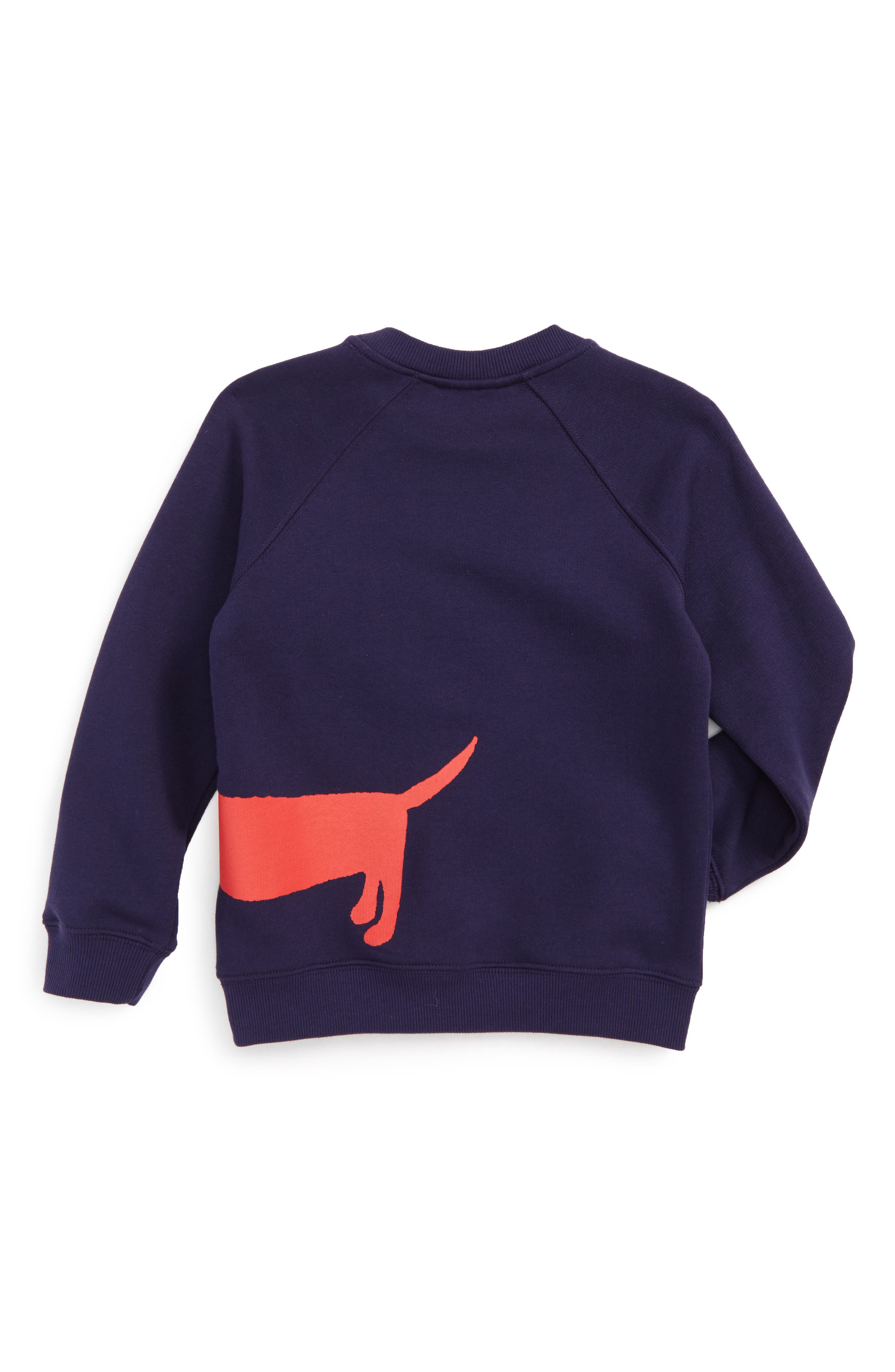 Alternate Image 2  - Mini Rodini Dog Sweatshirt (Toddler Boys & Little Boys)